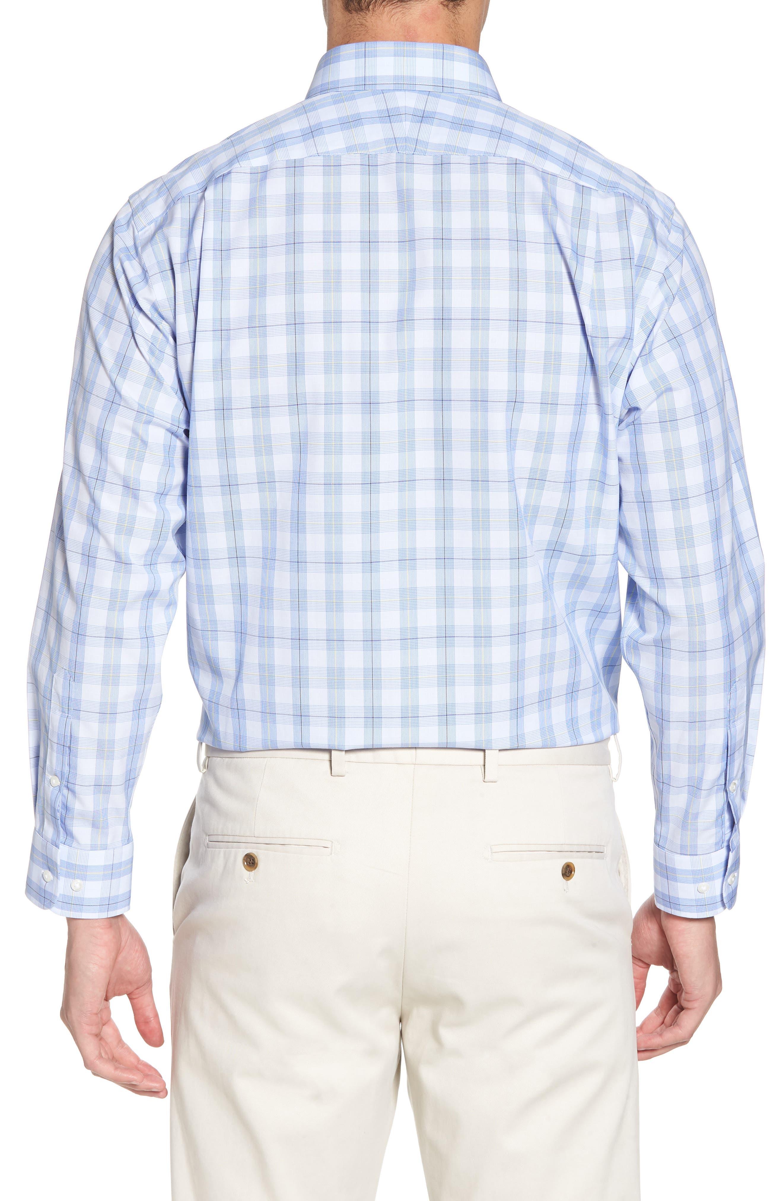 Smartcare<sup>™</sup> Traditional Fit Plaid Sport Shirt,                             Alternate thumbnail 3, color,
