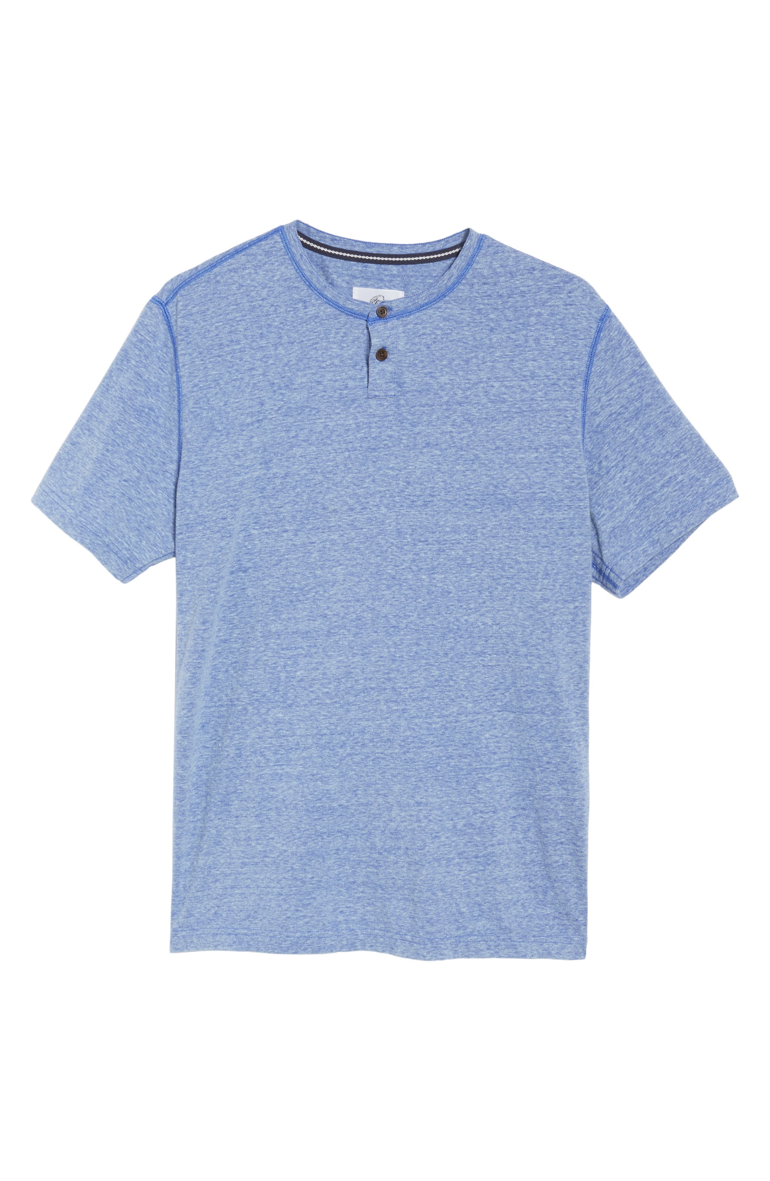 Heathered Short Sleeve Henley,                             Alternate thumbnail 6, color,                             431