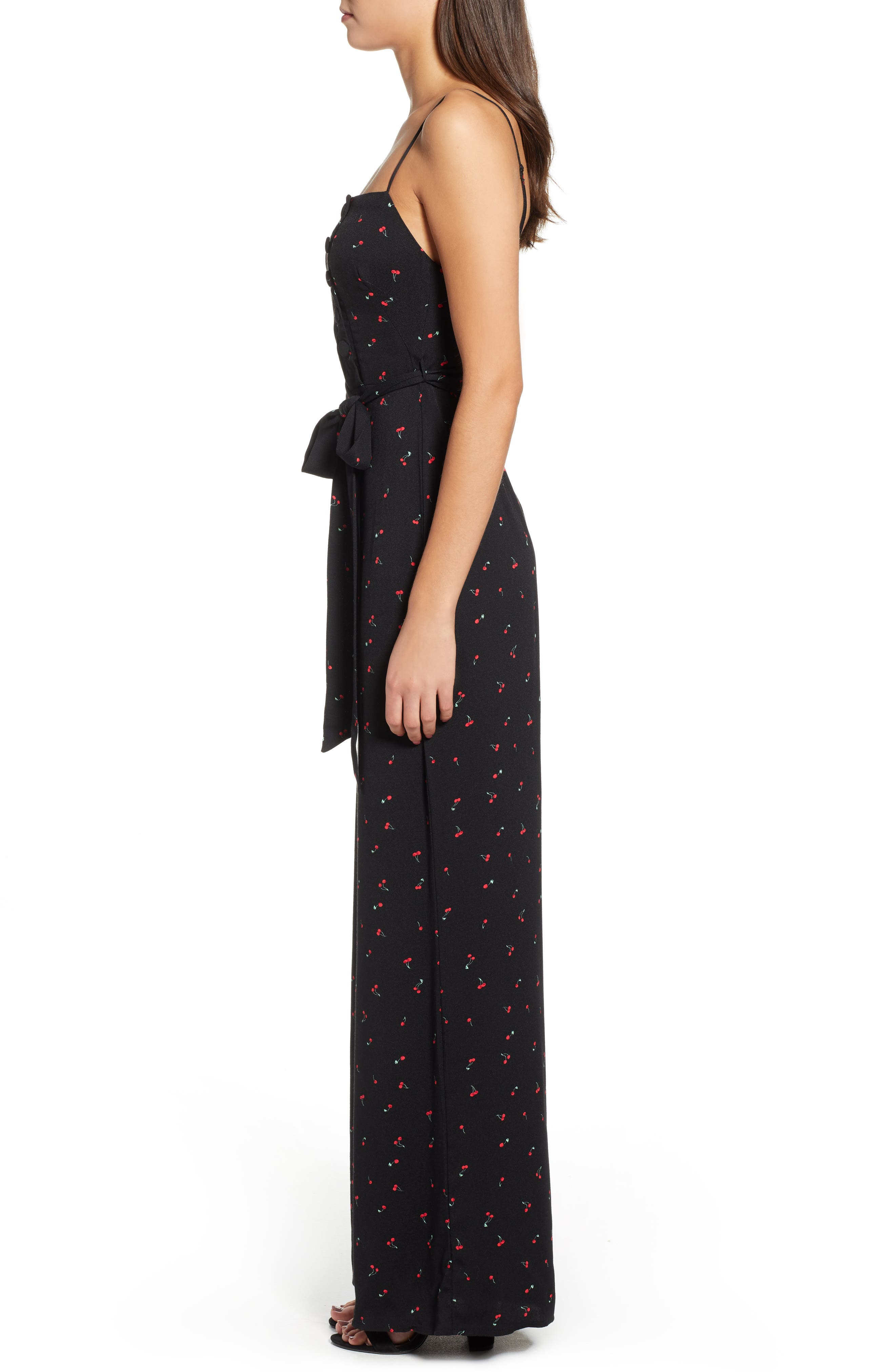 Mel Belted Jumpsuit,                             Alternate thumbnail 3, color,                             BABY CHERRY