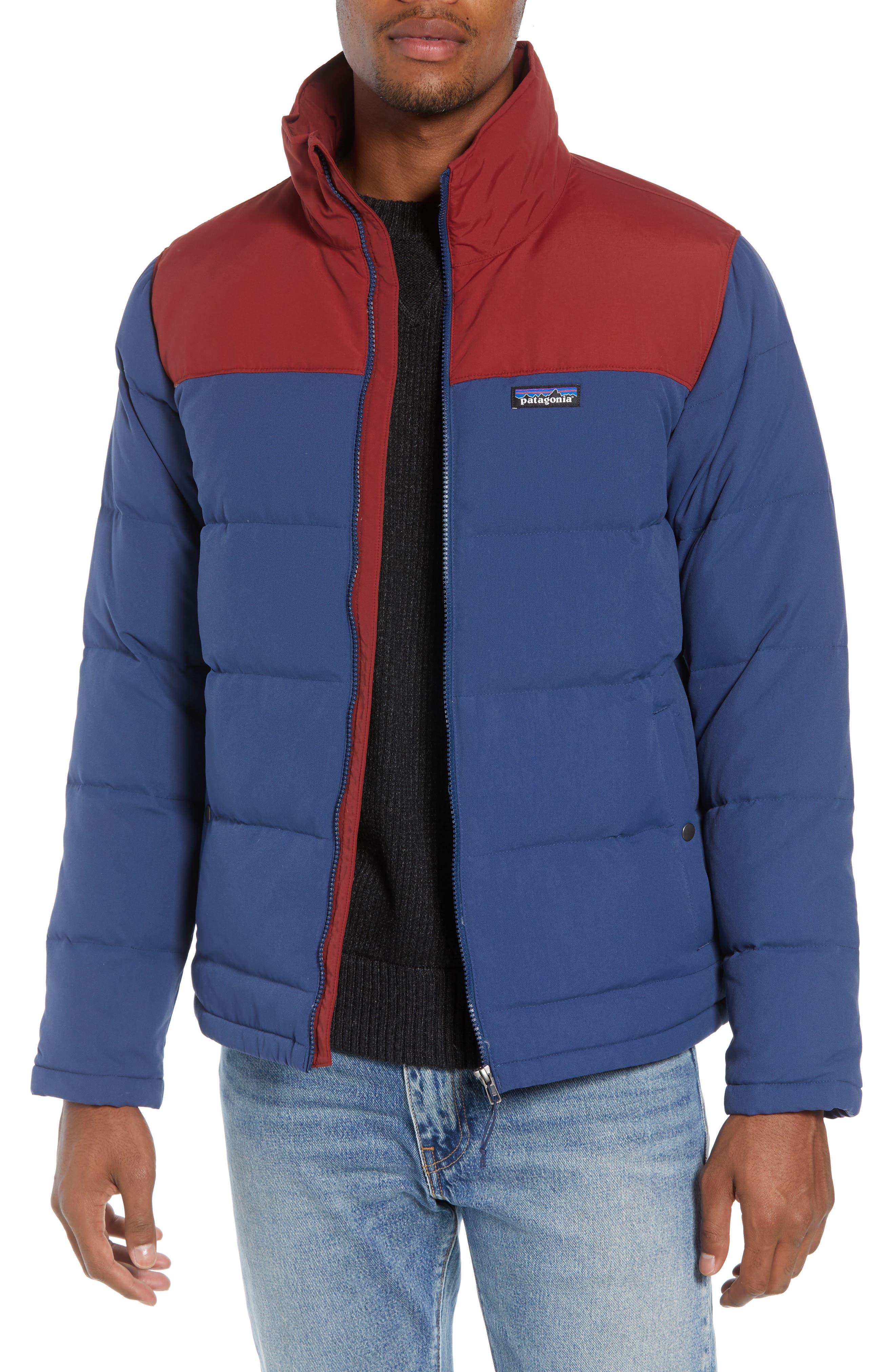 Patagonia Bivy Water Repellent Down Jacket, Blue