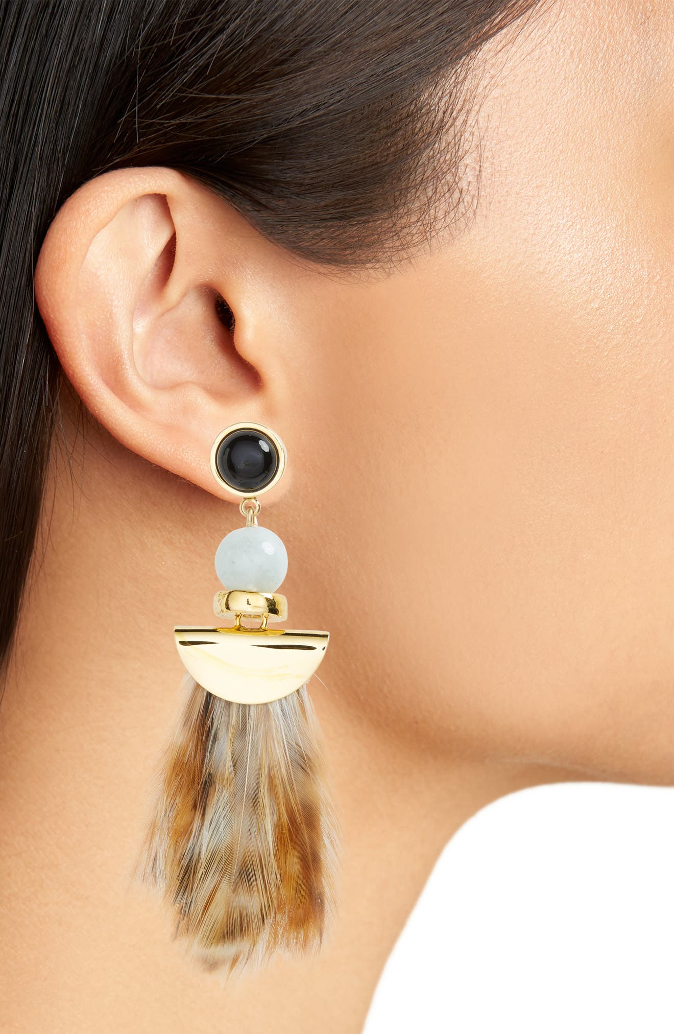 Feather Earrings,                             Alternate thumbnail 2, color,                             710