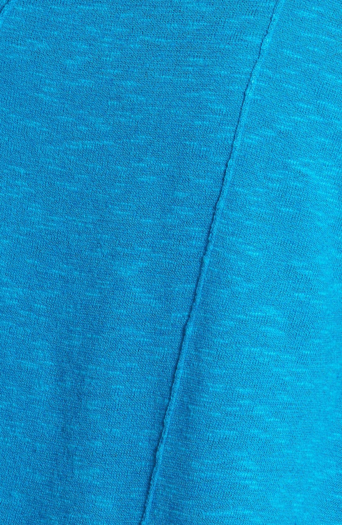 Cap Sleeve Organic Linen & Cotton Scoop Neck Top,                             Alternate thumbnail 31, color,