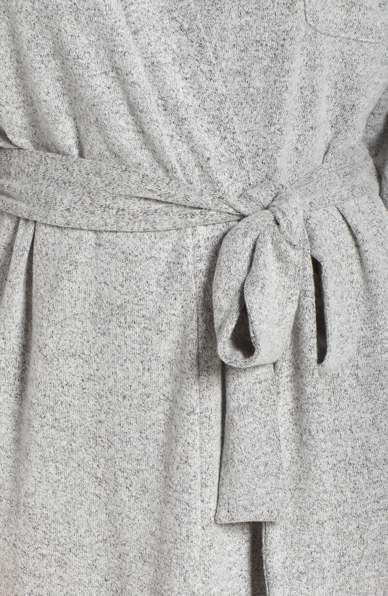 Cat Short Robe,                             Alternate thumbnail 5, color,                             HEATHER GREY