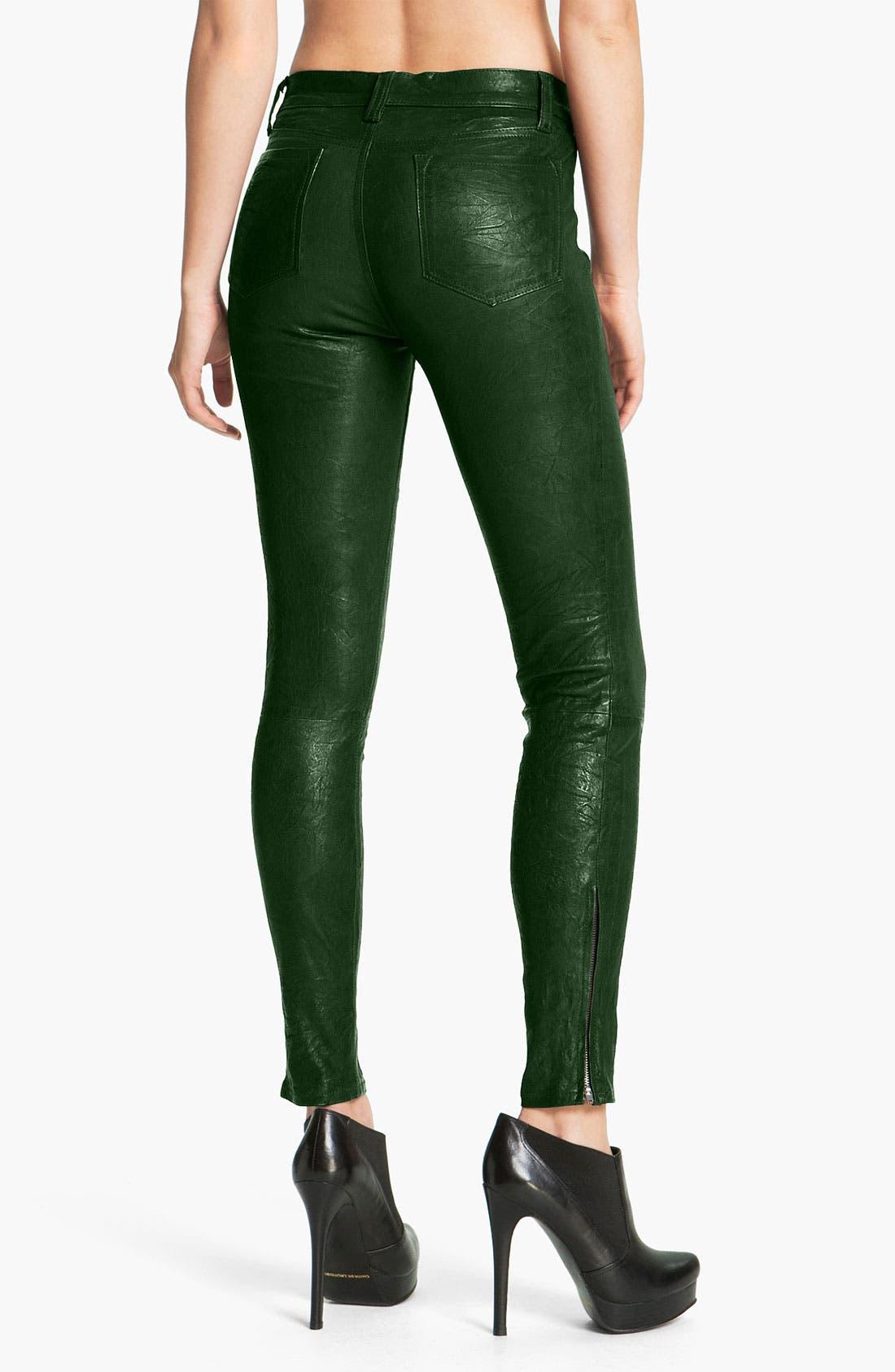 '8001' Lambskin Leather Pants,                             Alternate thumbnail 57, color,