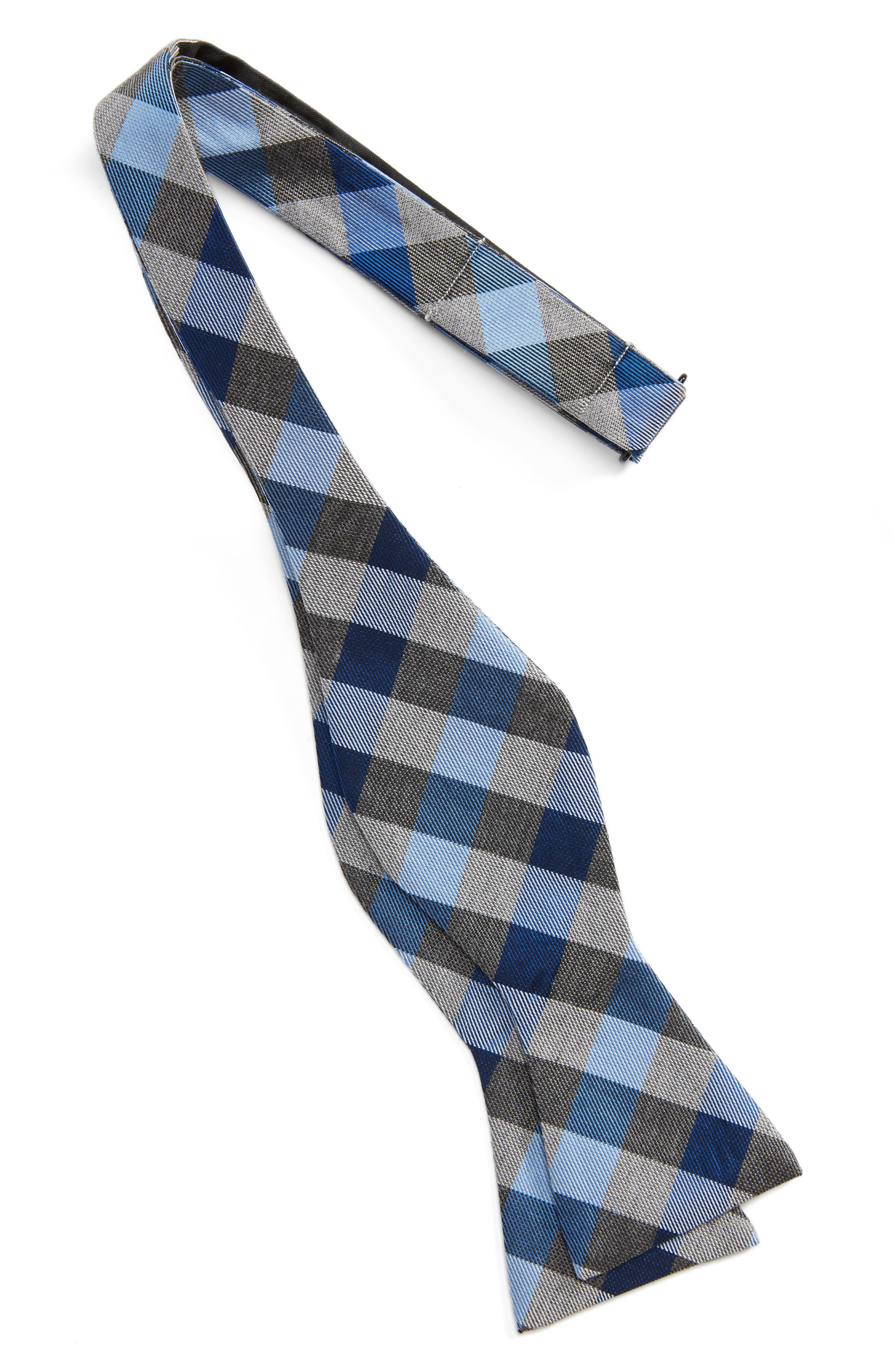 Gingham Silk Bow Tie,                             Alternate thumbnail 2, color,                             411