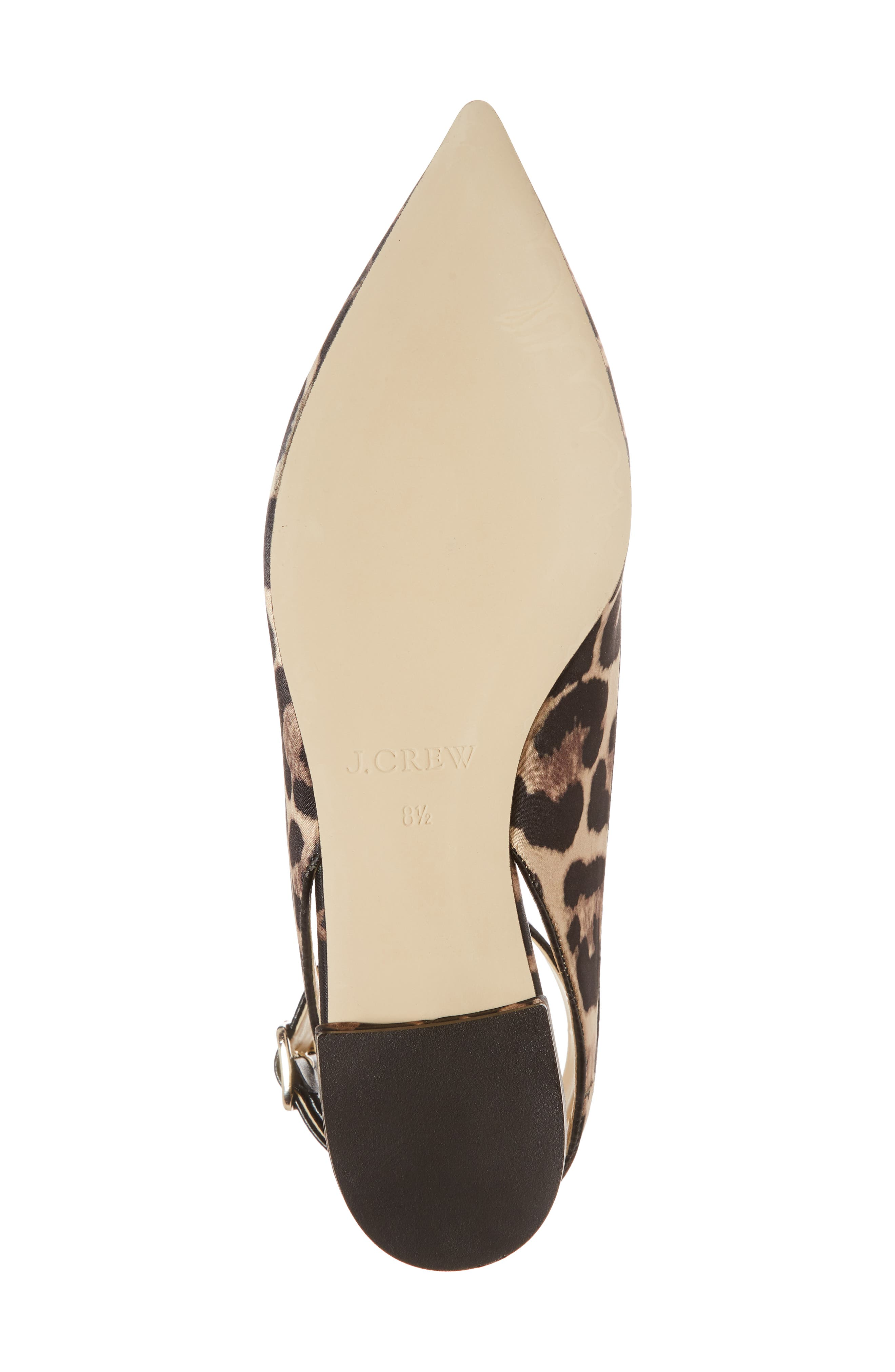 J. Crew Harlech Tabby Print Ankle Strap Flat,                             Alternate thumbnail 6, color,