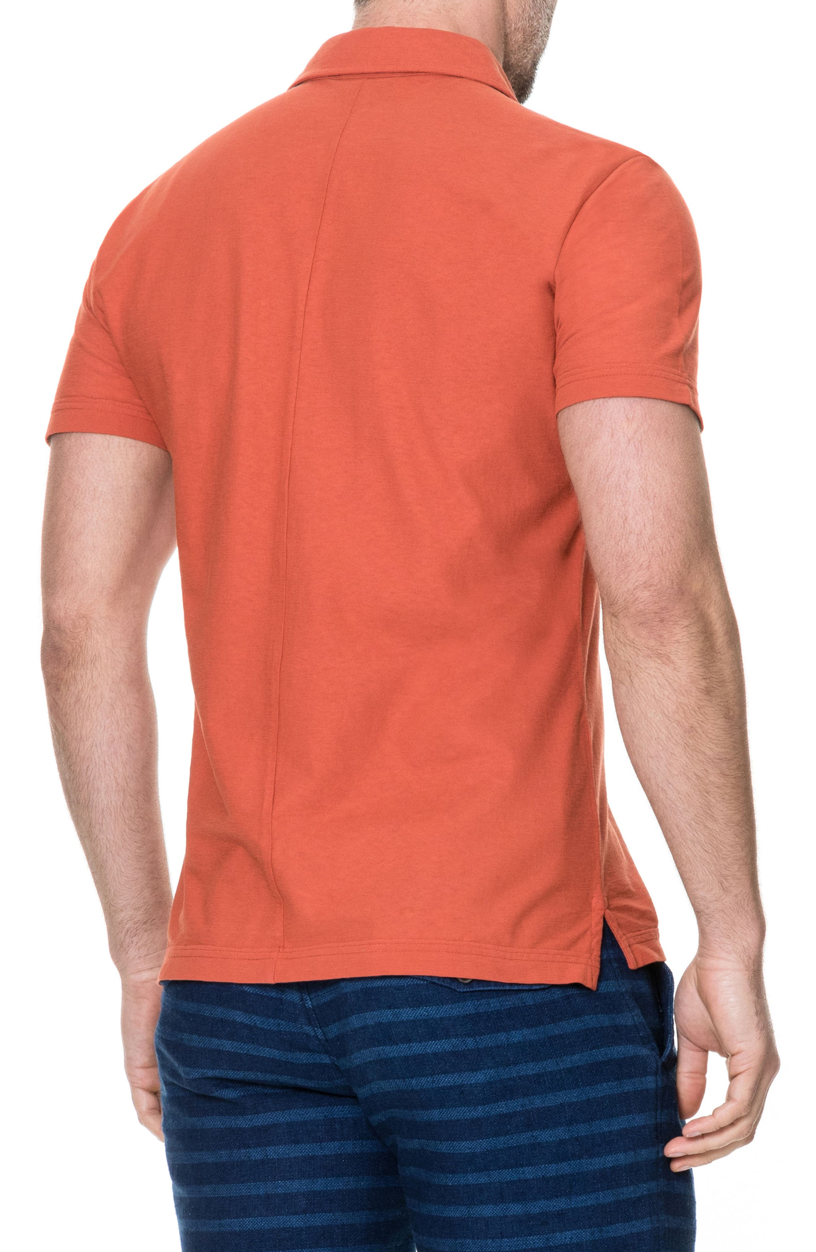 Wilsons Bay Sports Fit Polo,                             Alternate thumbnail 2, color,                             RED OCHRE