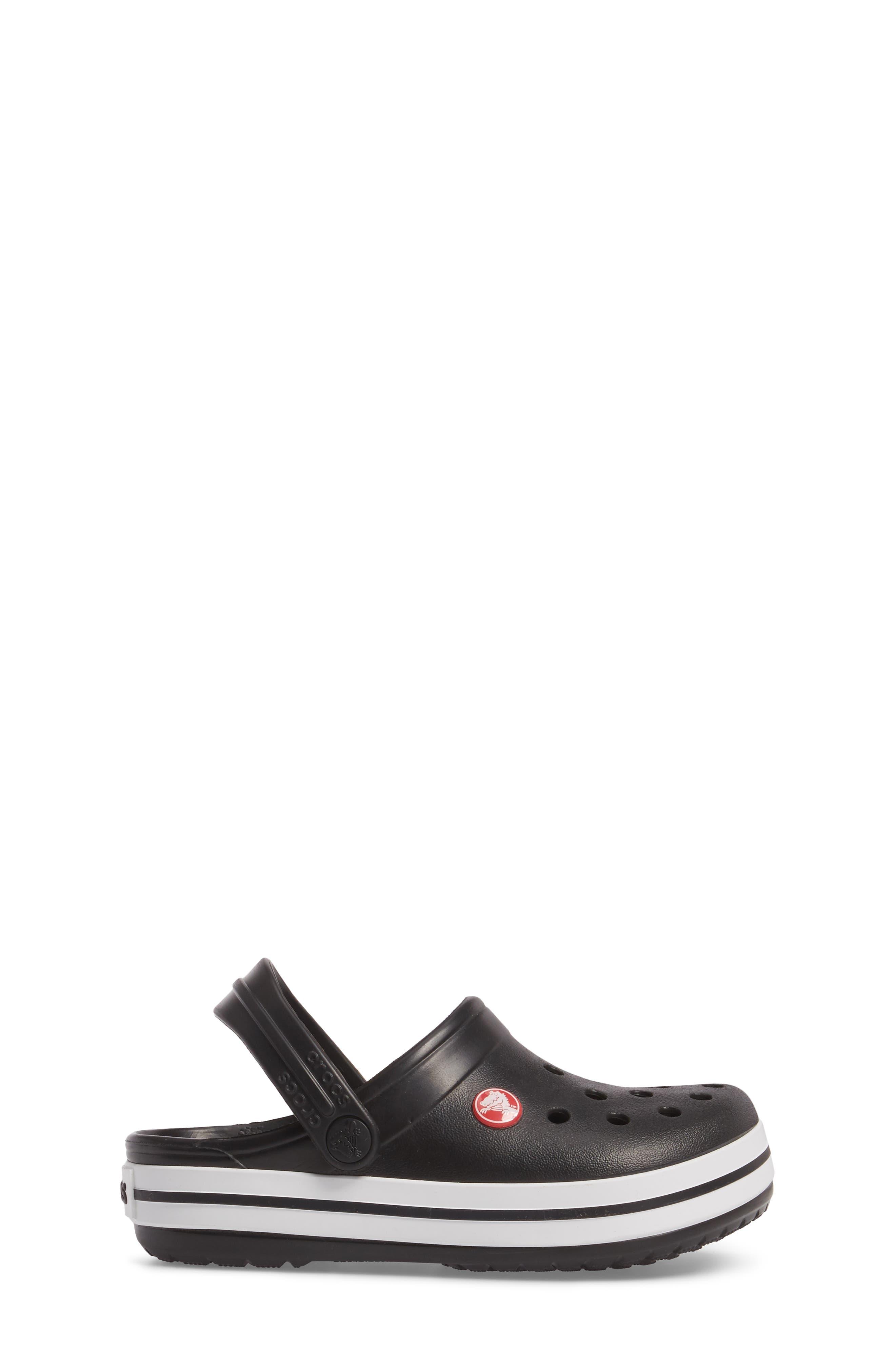Crocband Clog,                             Alternate thumbnail 3, color,                             BLACK