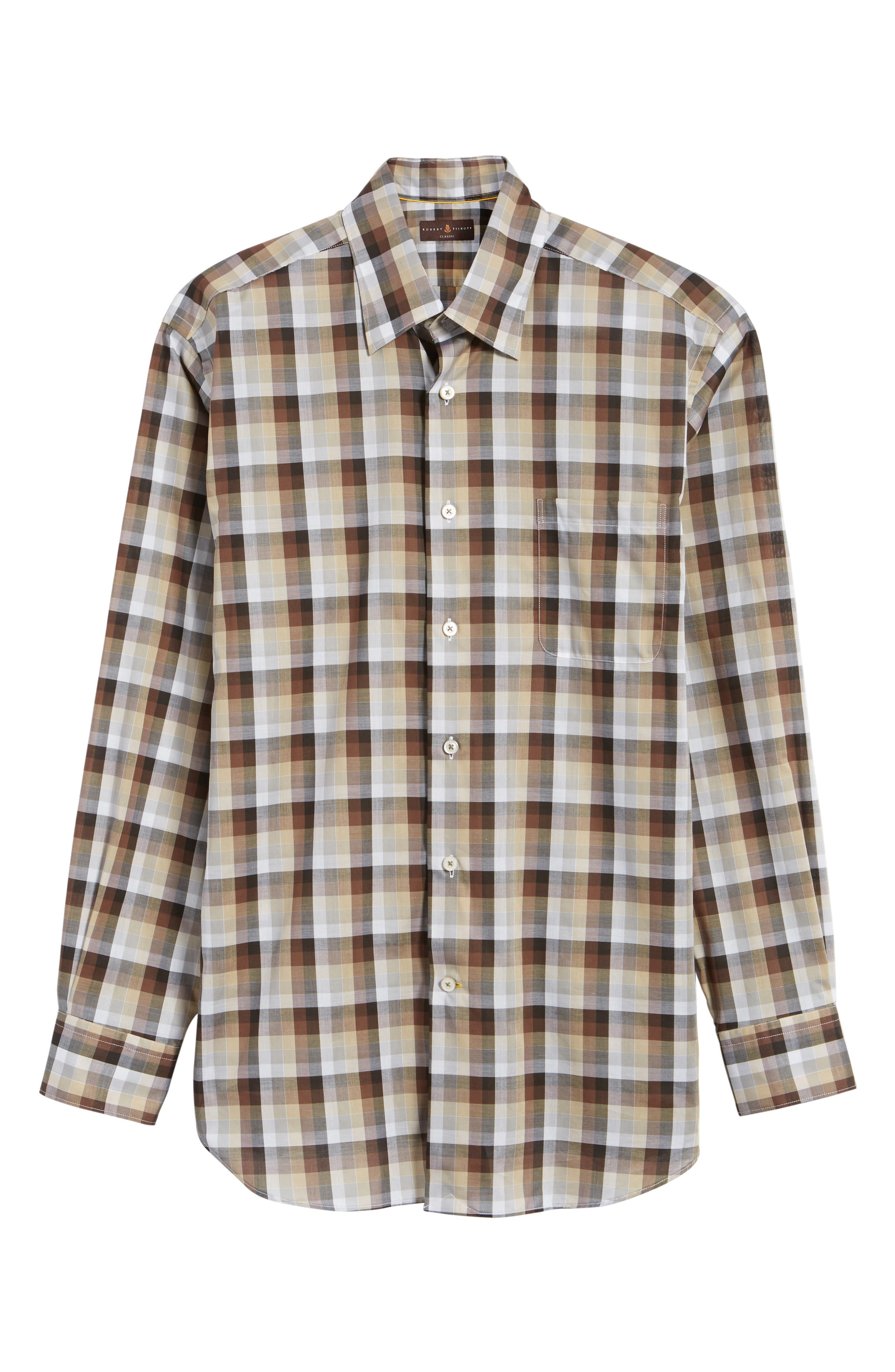 Anderson Classic Fit Check Sport Shirt,                             Alternate thumbnail 6, color,                             200
