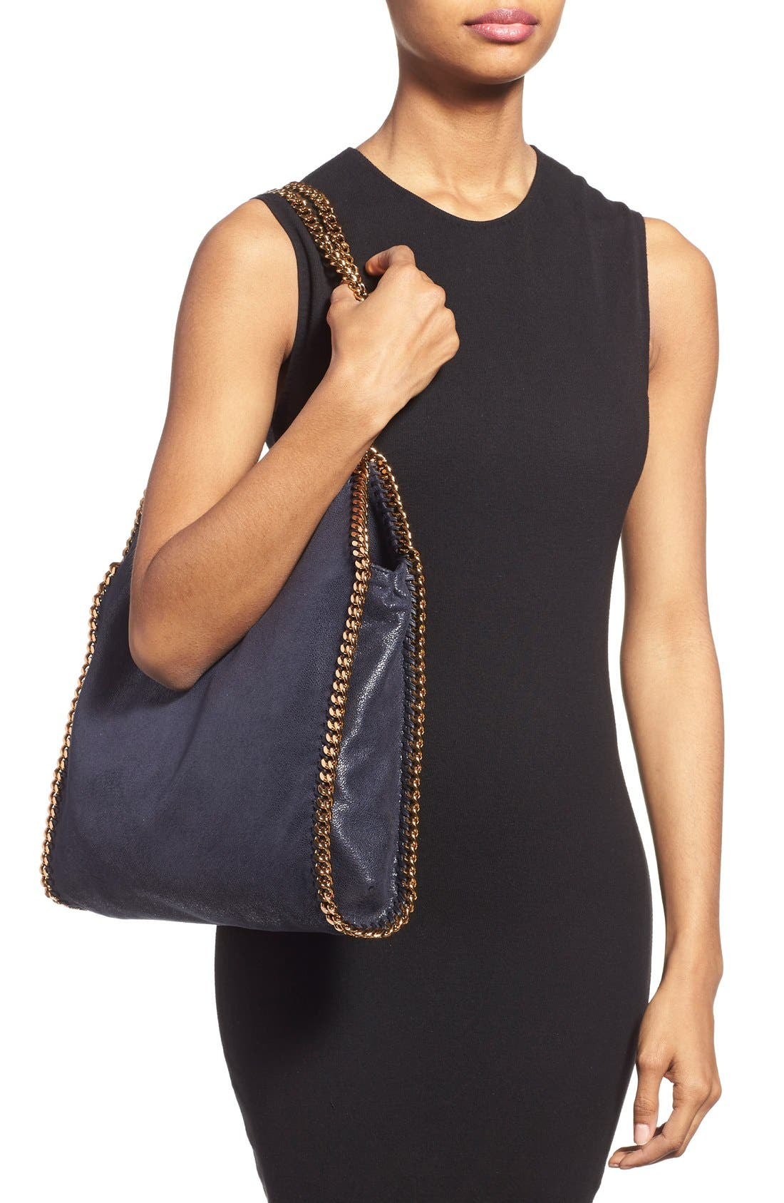'Small Falabella - Shaggy Deer' Faux Leather Tote,                             Alternate thumbnail 2, color,                             400