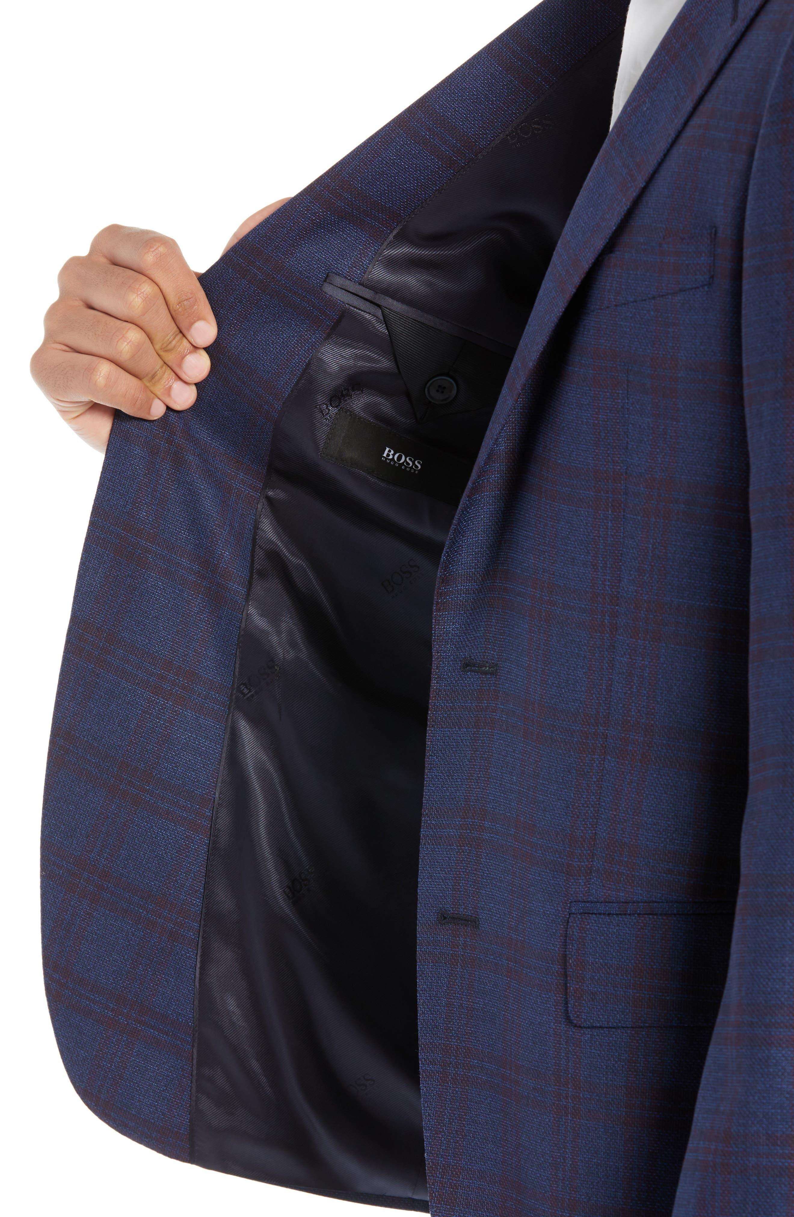 Jewels Classic Fit Plaid Wool Sport Coat,                             Alternate thumbnail 4, color,                             OPEN BLUE
