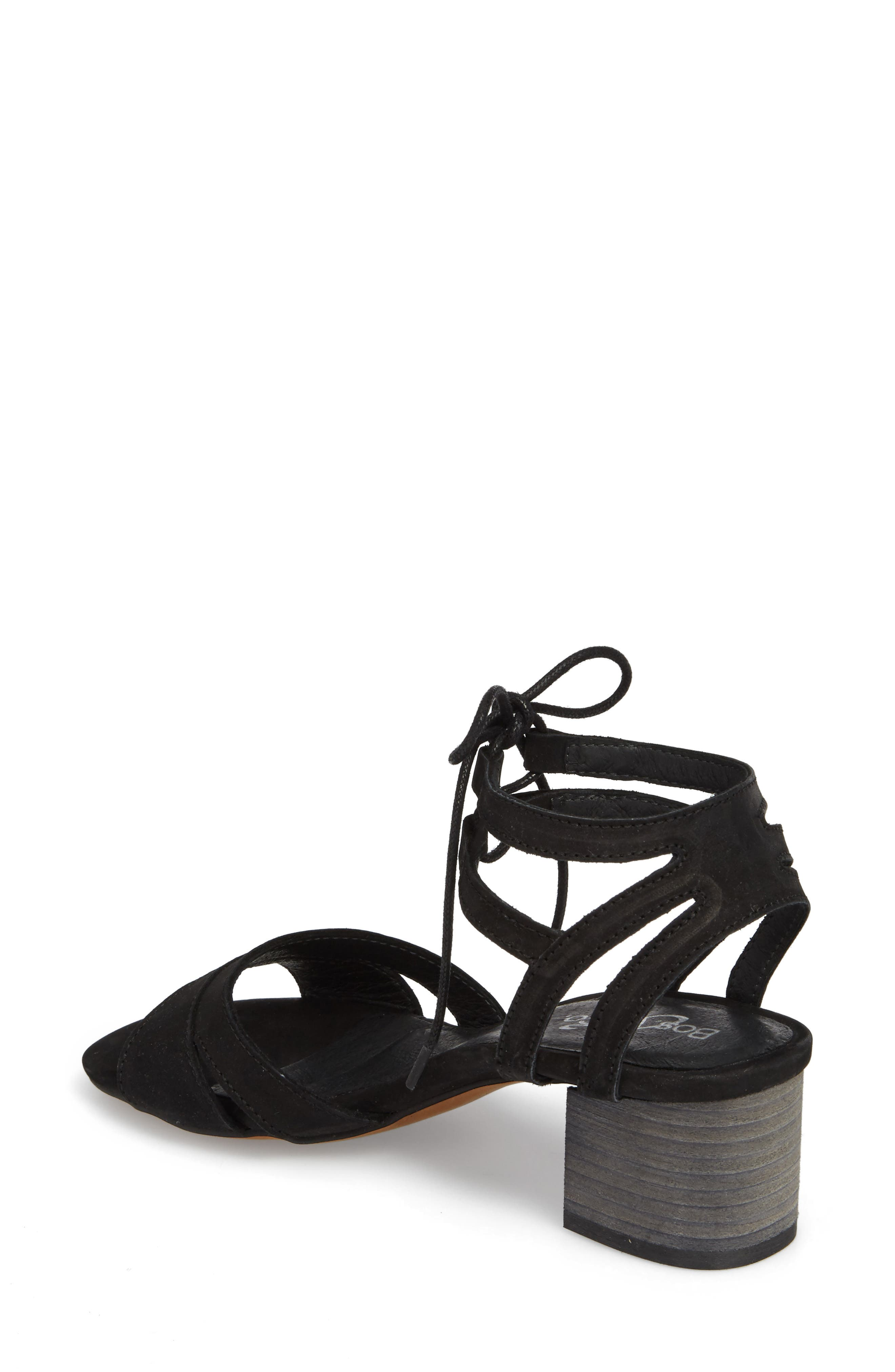 Zorita Sandal,                             Alternate thumbnail 2, color,                             BLACK NUBUCK LEATHER