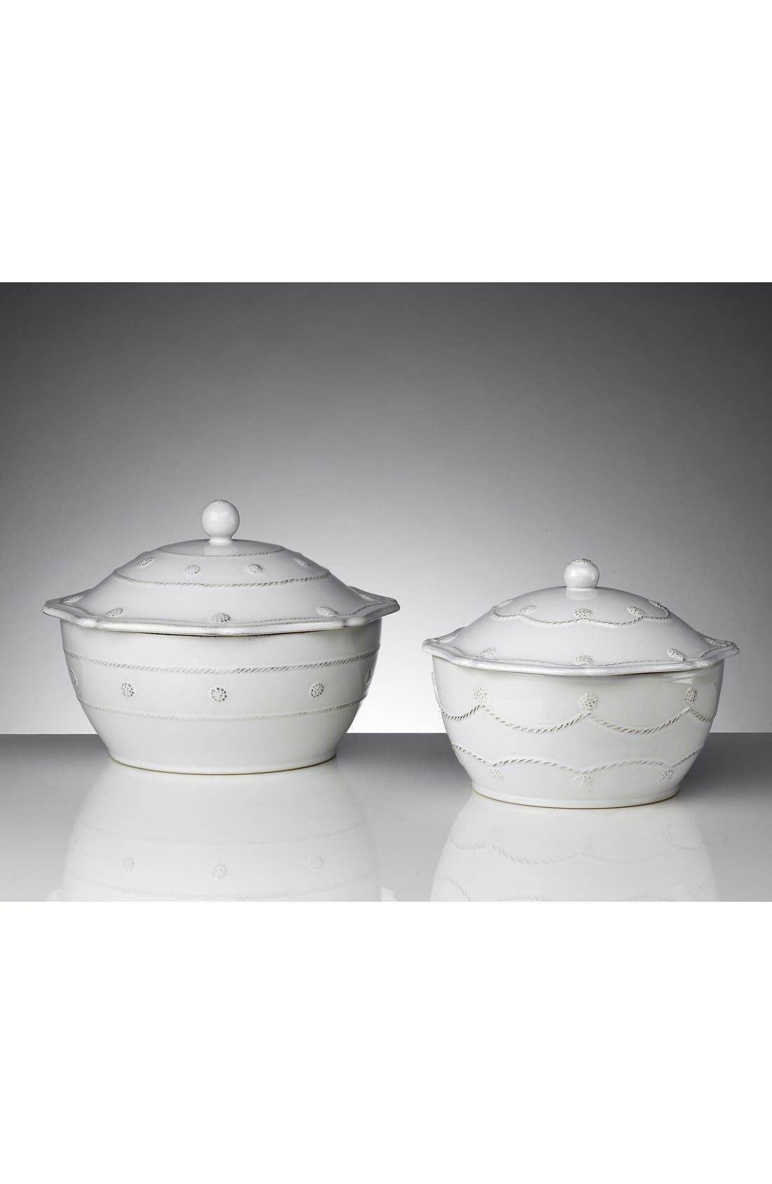 'Berry and Thread' Casserole Dish with Lid,                             Alternate thumbnail 2, color,                             WHITEWASH