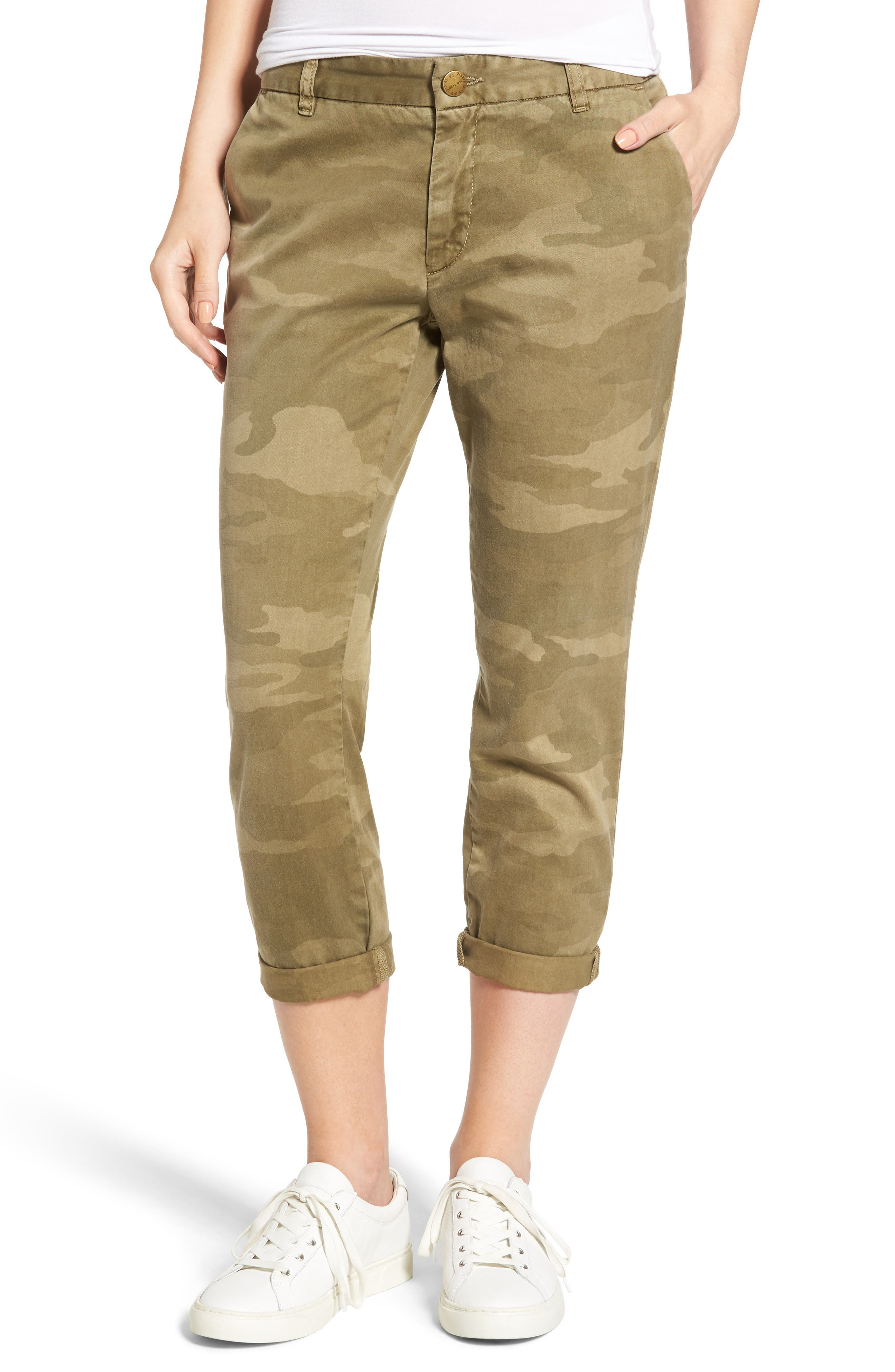 'The Buddy' Print Twill Trousers,                             Main thumbnail 1, color,                             314