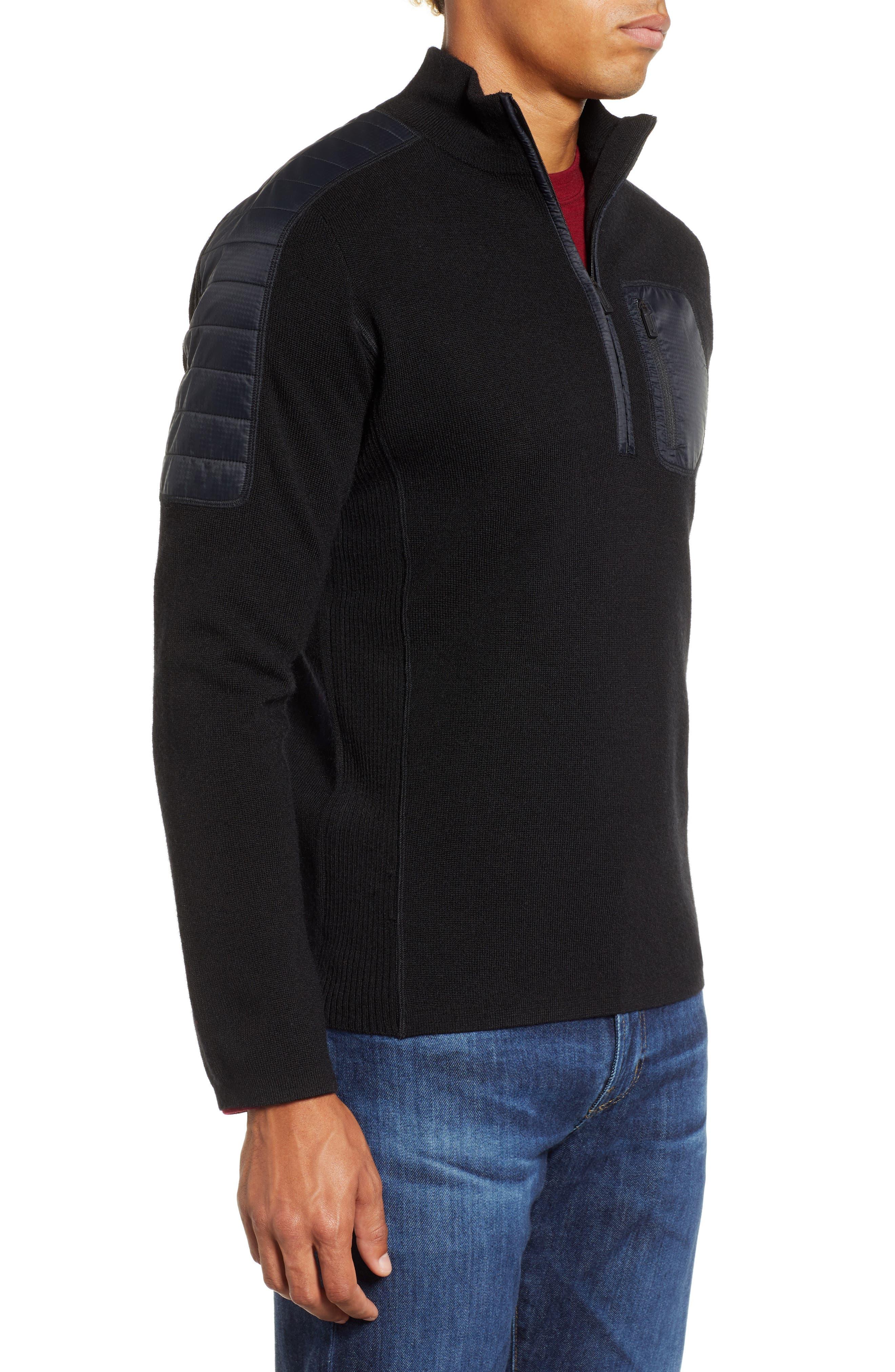SMARTWOOL,                             Ski Ninja Pullover Sweater,                             Alternate thumbnail 3, color,                             BLACK
