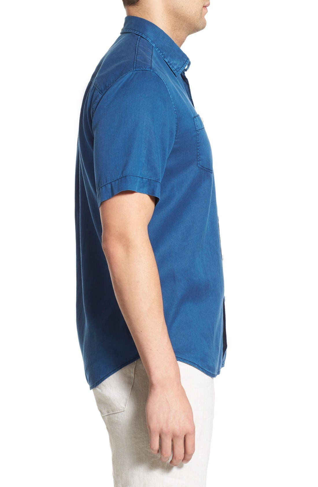 'New Twilly' Island Modern Fit Short Sleeve Twill Shirt,                             Alternate thumbnail 27, color,