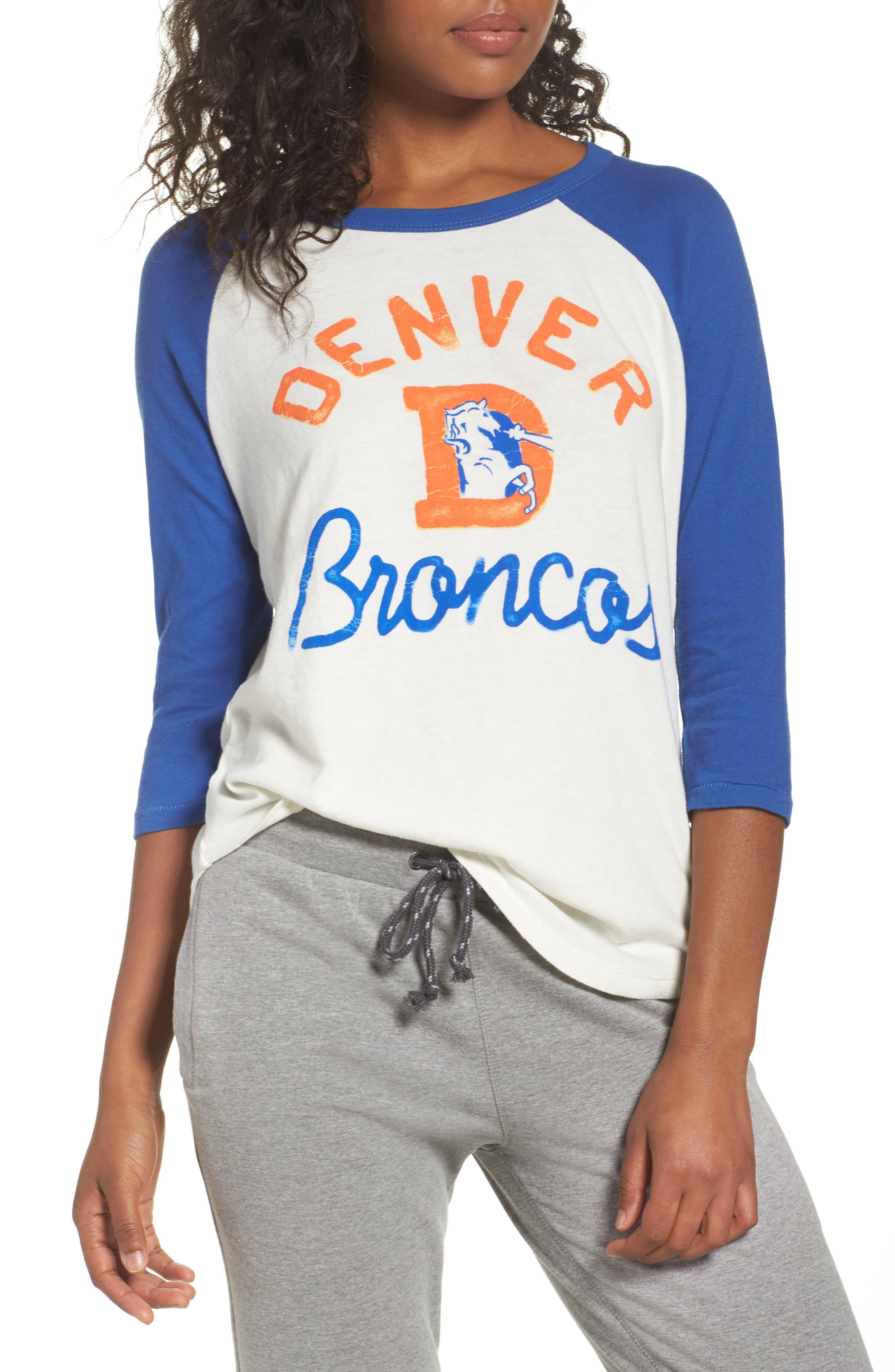 NFL Denver Broncos Raglan Tee,                             Main thumbnail 1, color,                             189