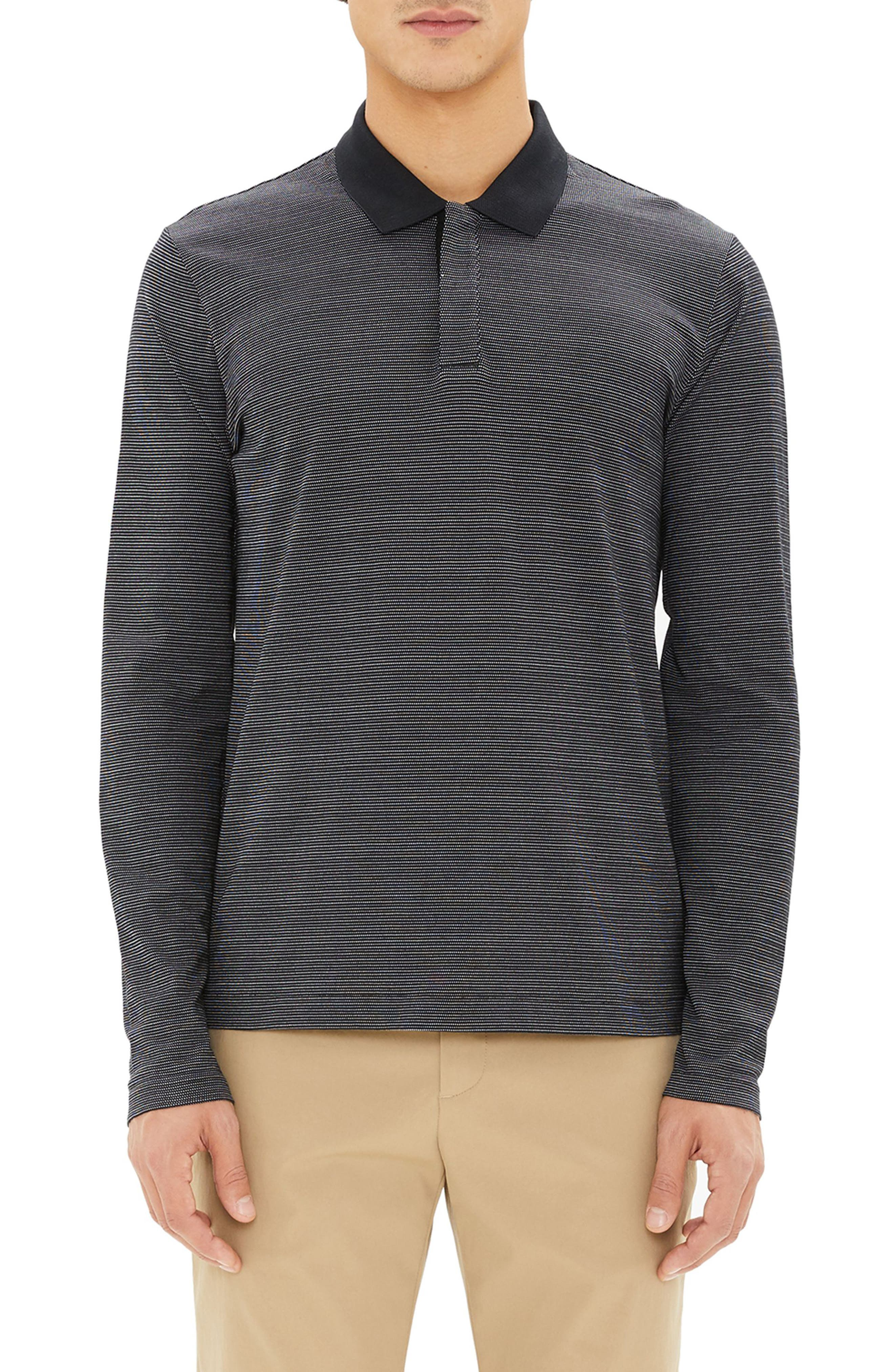Clean Long Sleeve Polo,                         Main,                         color, 009