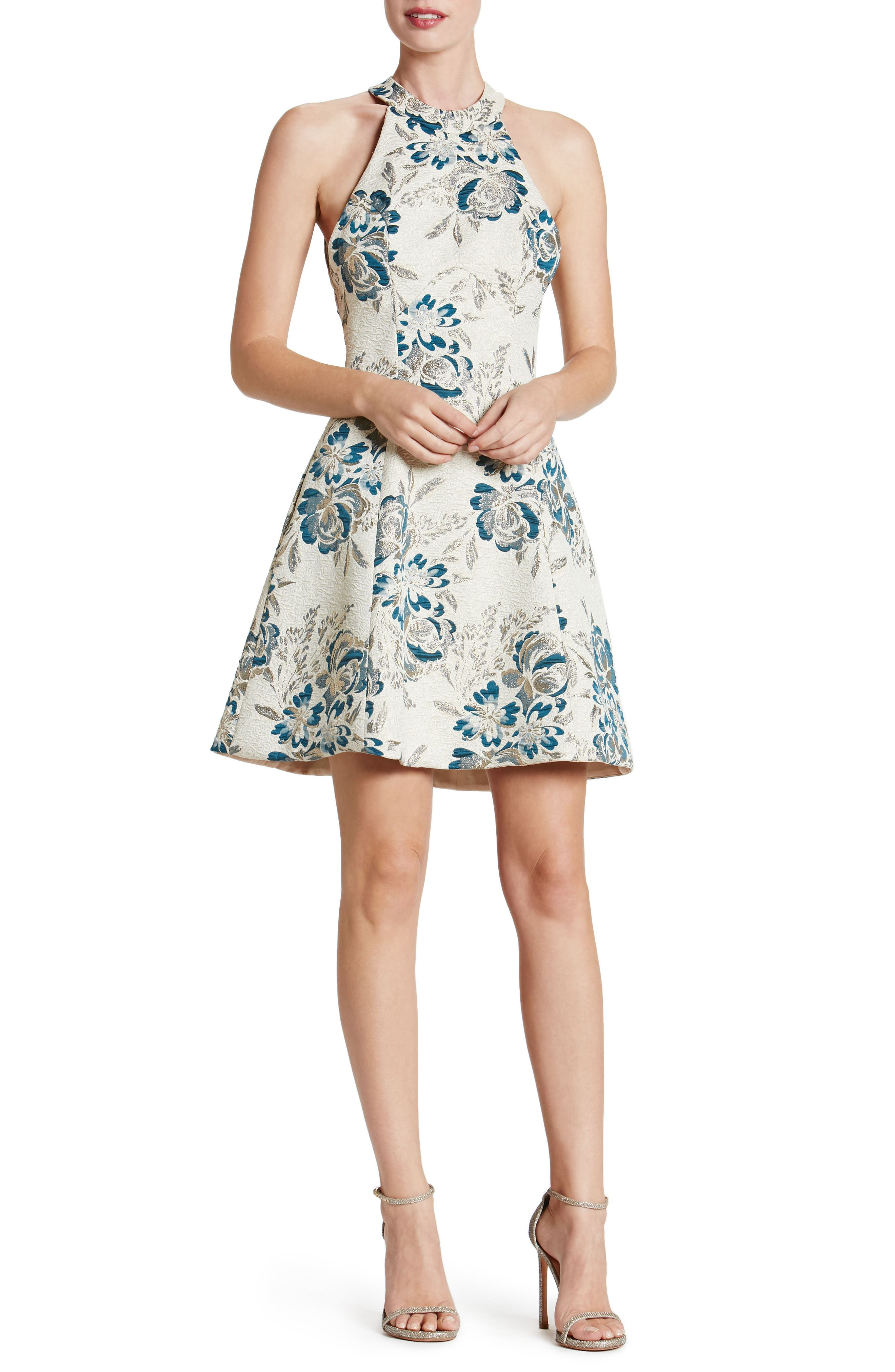 Hannah Fit & Flare Dress,                         Main,                         color,