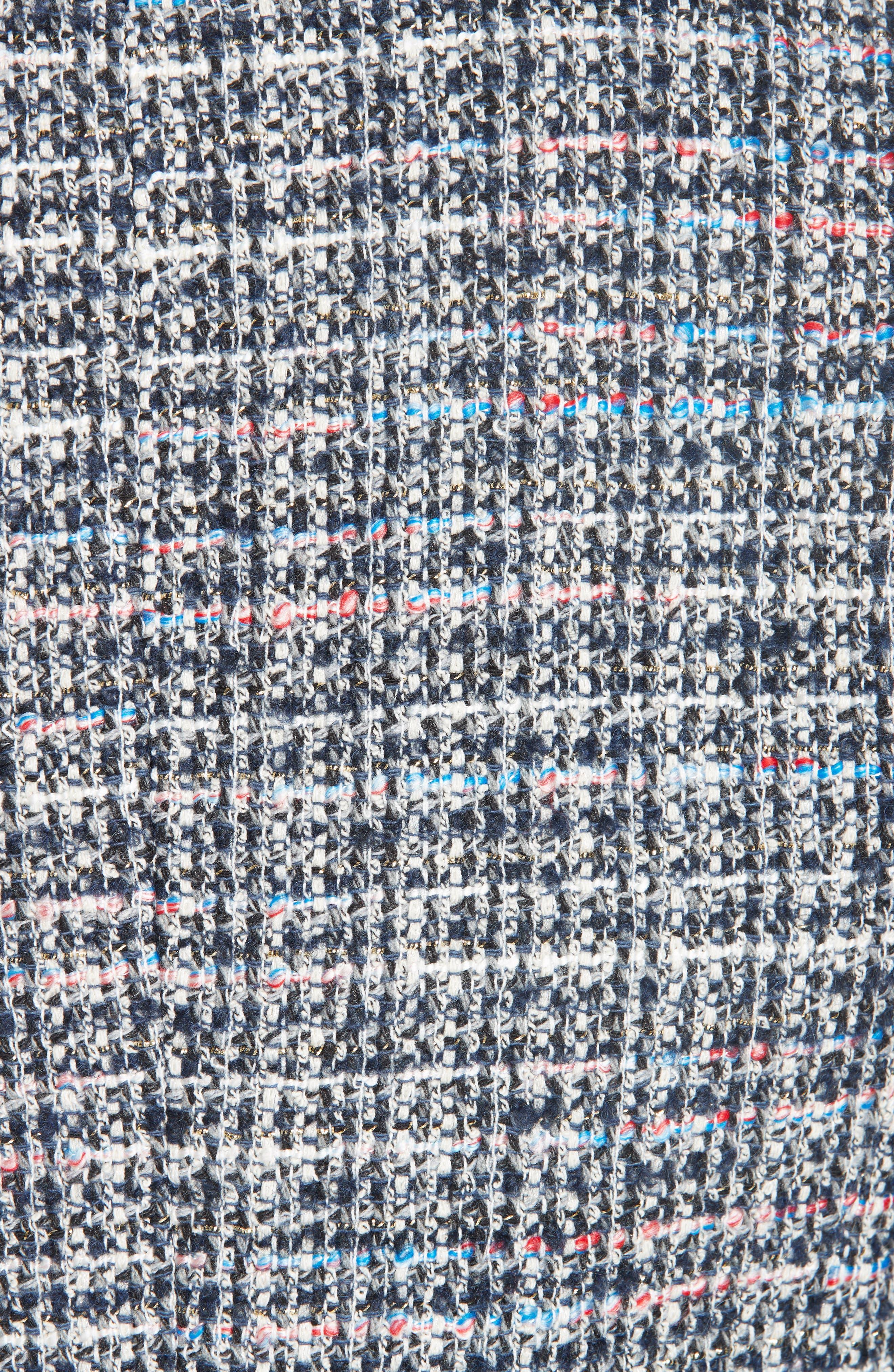 Notch Collar Tweed Jacket,                             Alternate thumbnail 6, color,                             400