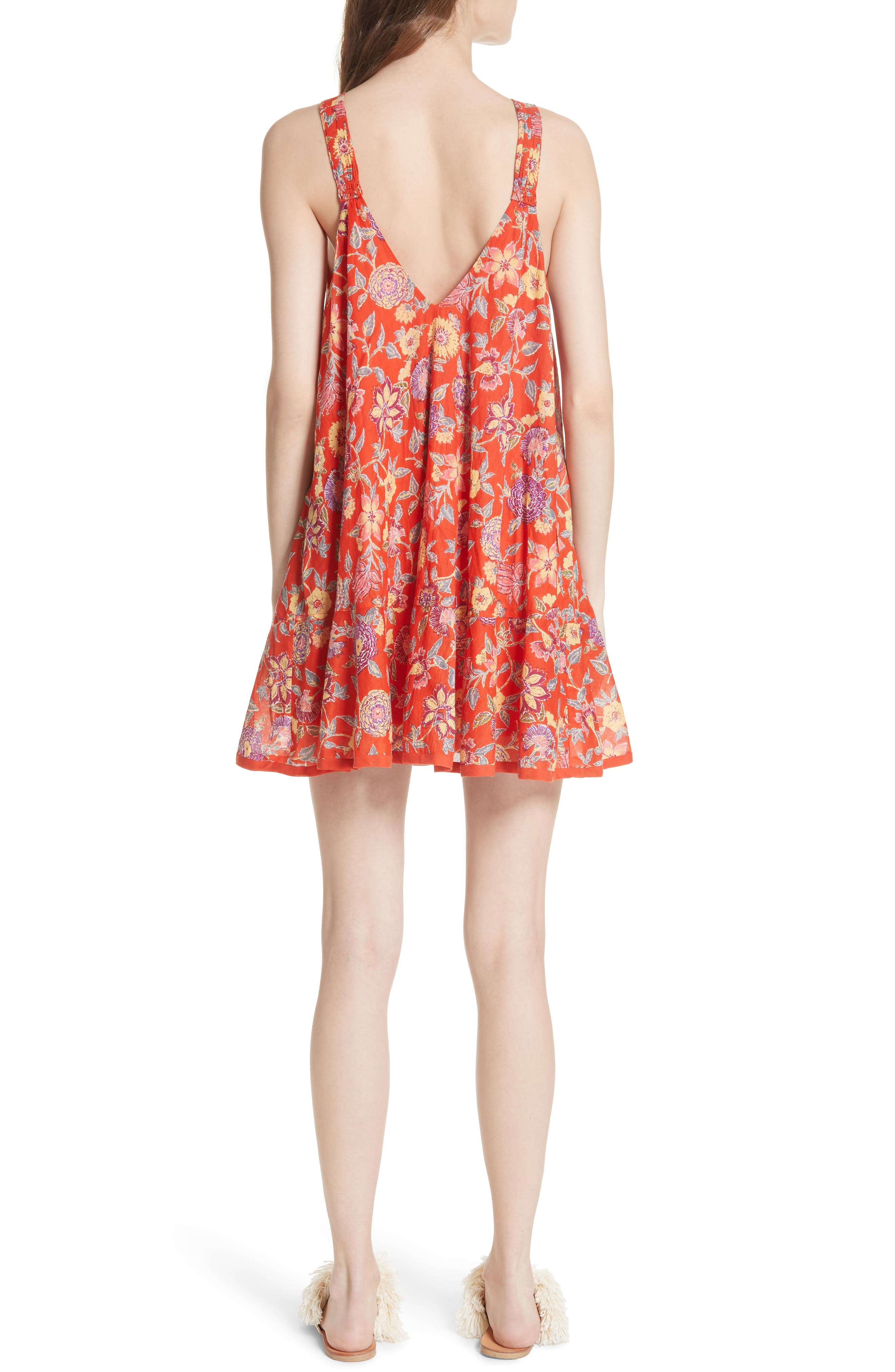 Oh Baby Floral Minidress,                             Alternate thumbnail 4, color,