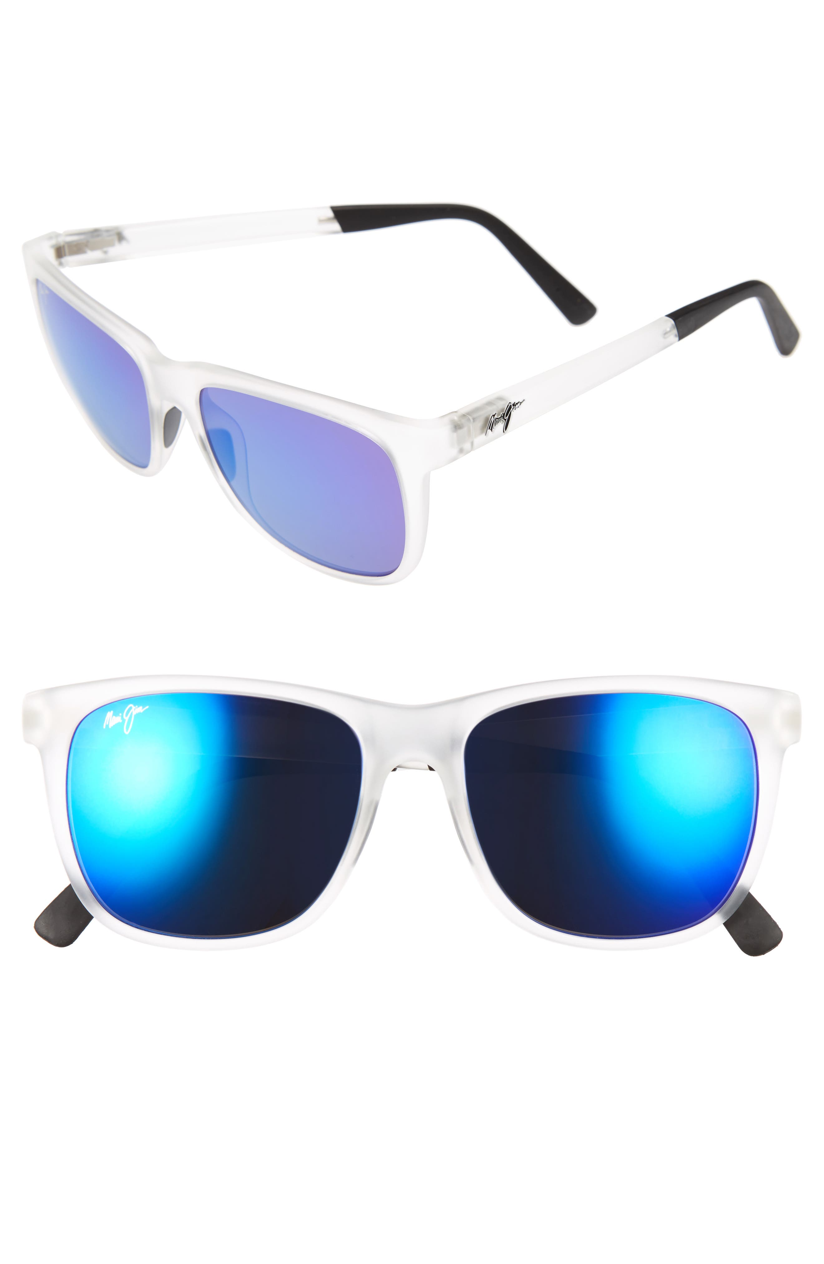 Maui Jim Tail Slide 5m Polarized Sunglasses - Frosted Crystal