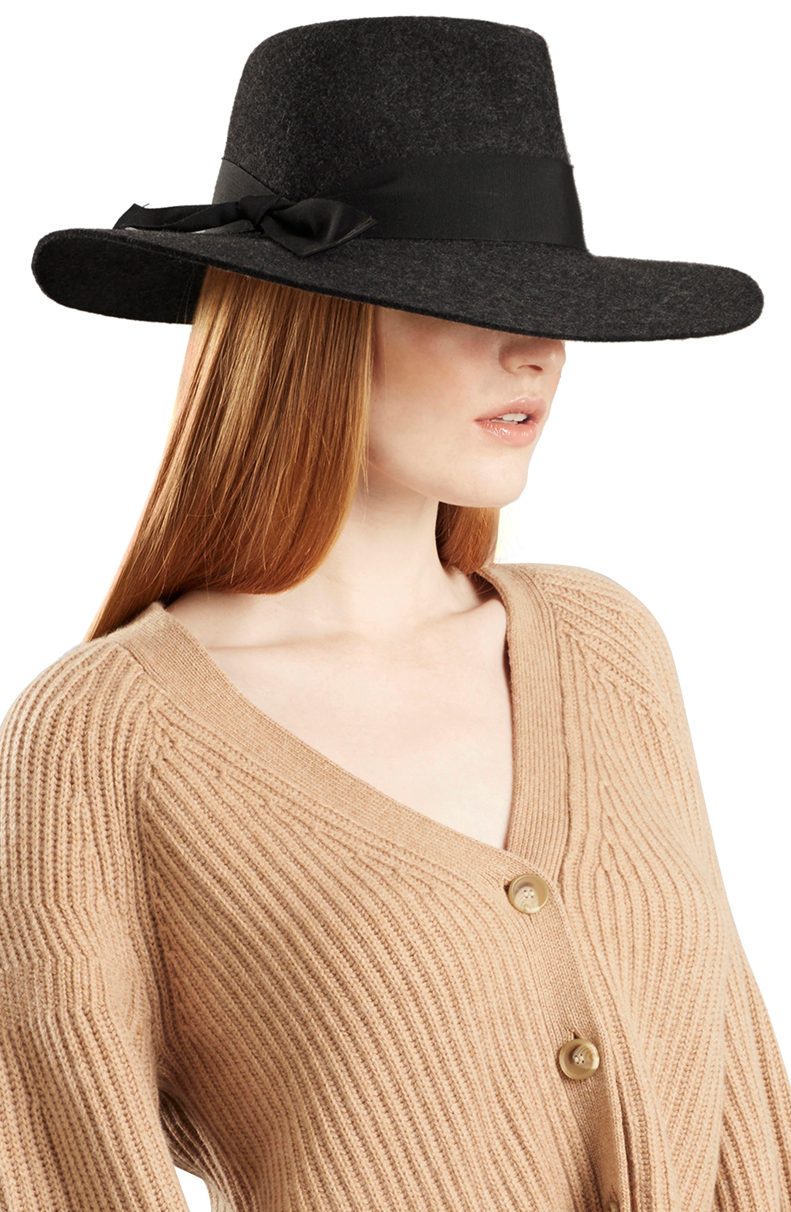 Western Wool Fedora,                             Alternate thumbnail 2, color,                             KNIGHT MELANGE/ BLACK