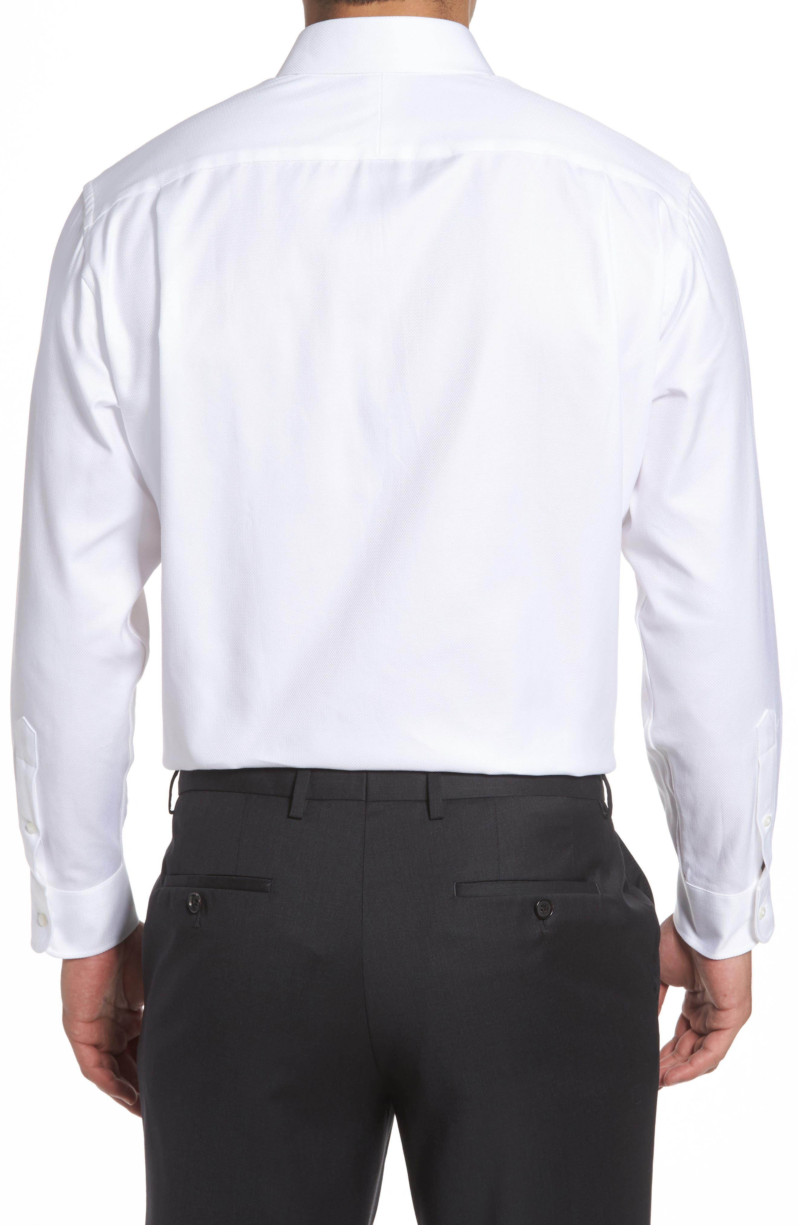 Classic Fit Textured Dress Shirt,                             Alternate thumbnail 2, color,                             WHITE