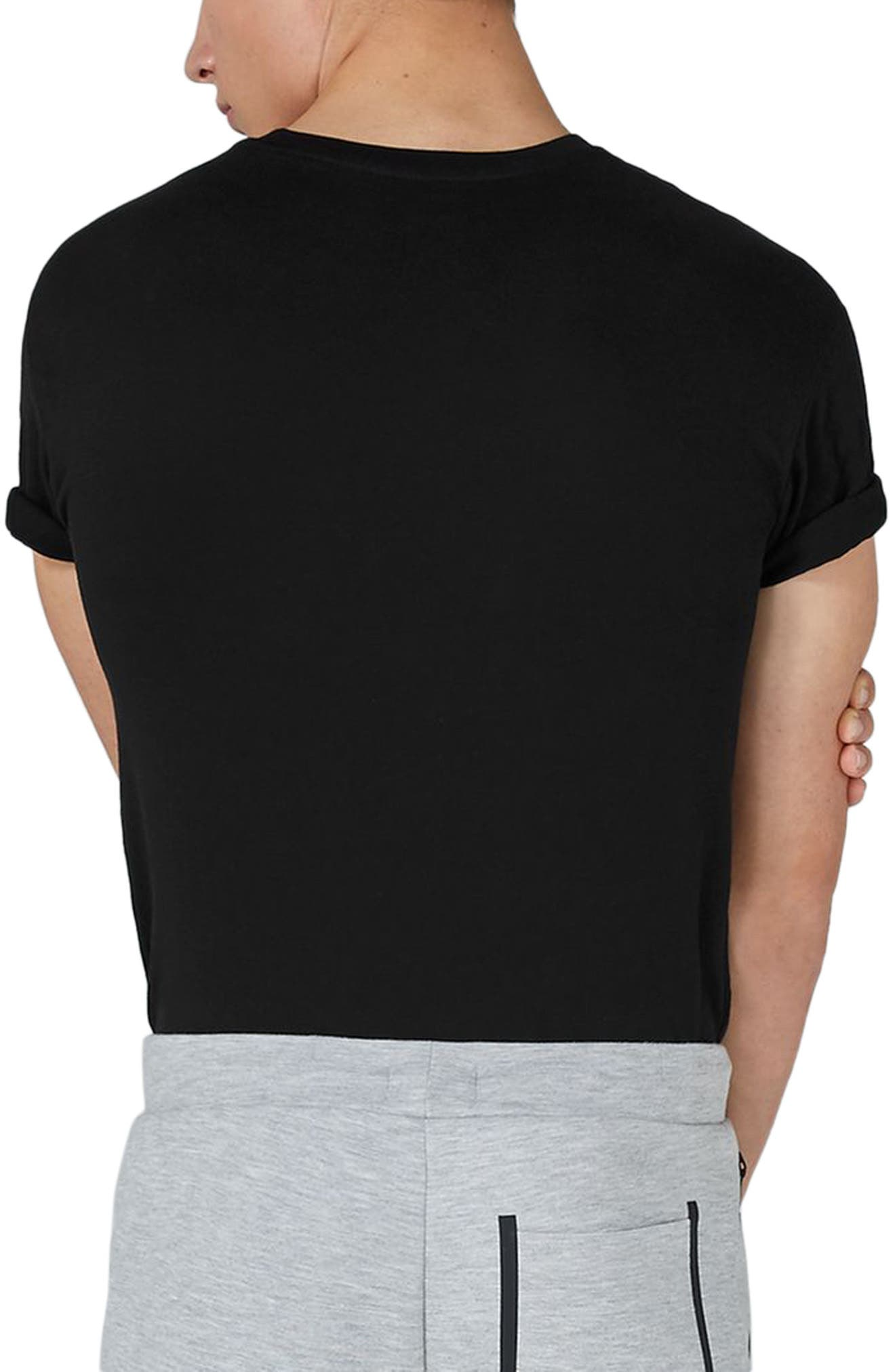 Muscle Fit Roller T-Shirt,                             Alternate thumbnail 2, color,                             001