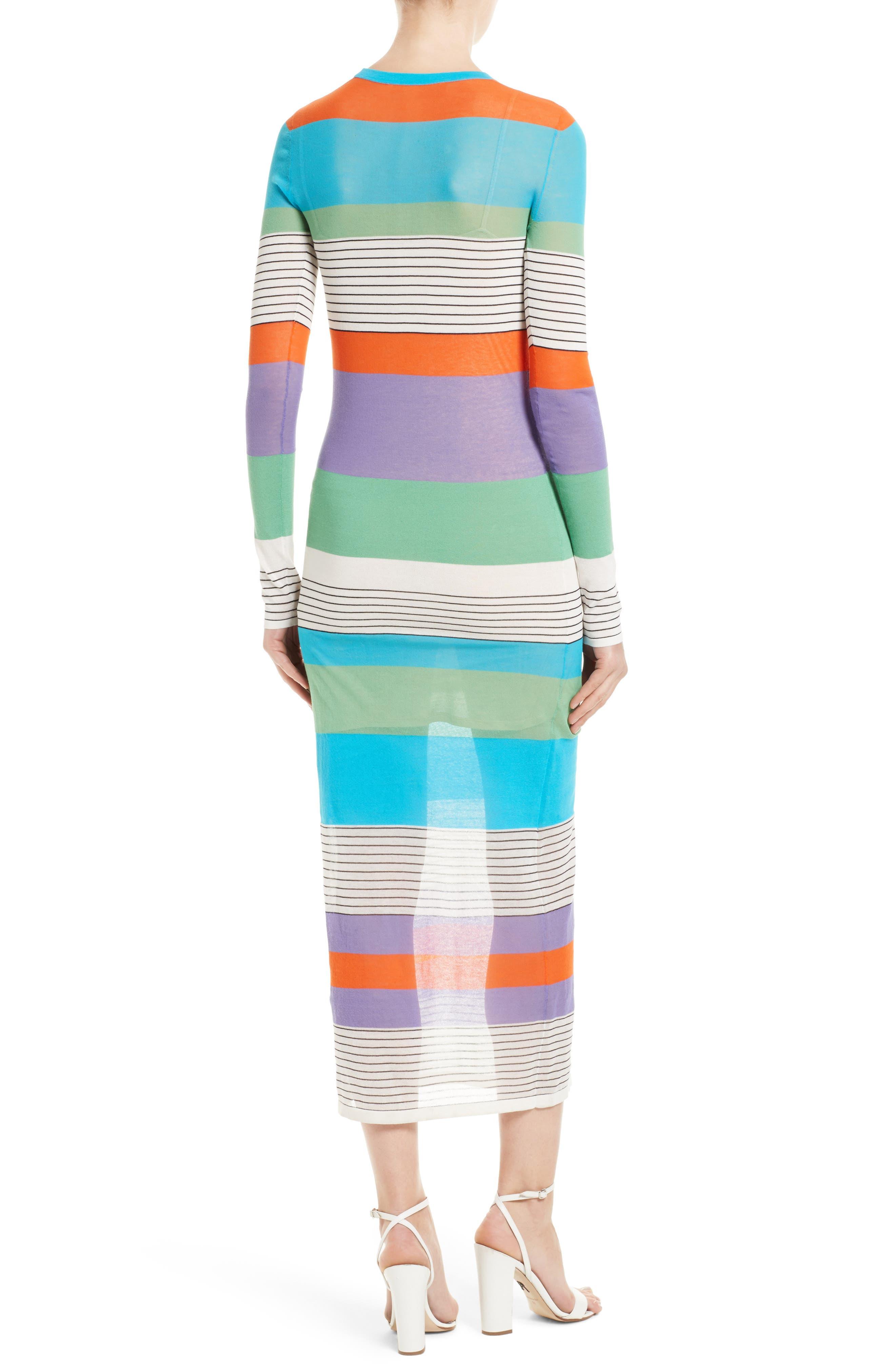 Colorblock Knit Midi Dress,                             Alternate thumbnail 2, color,                             441