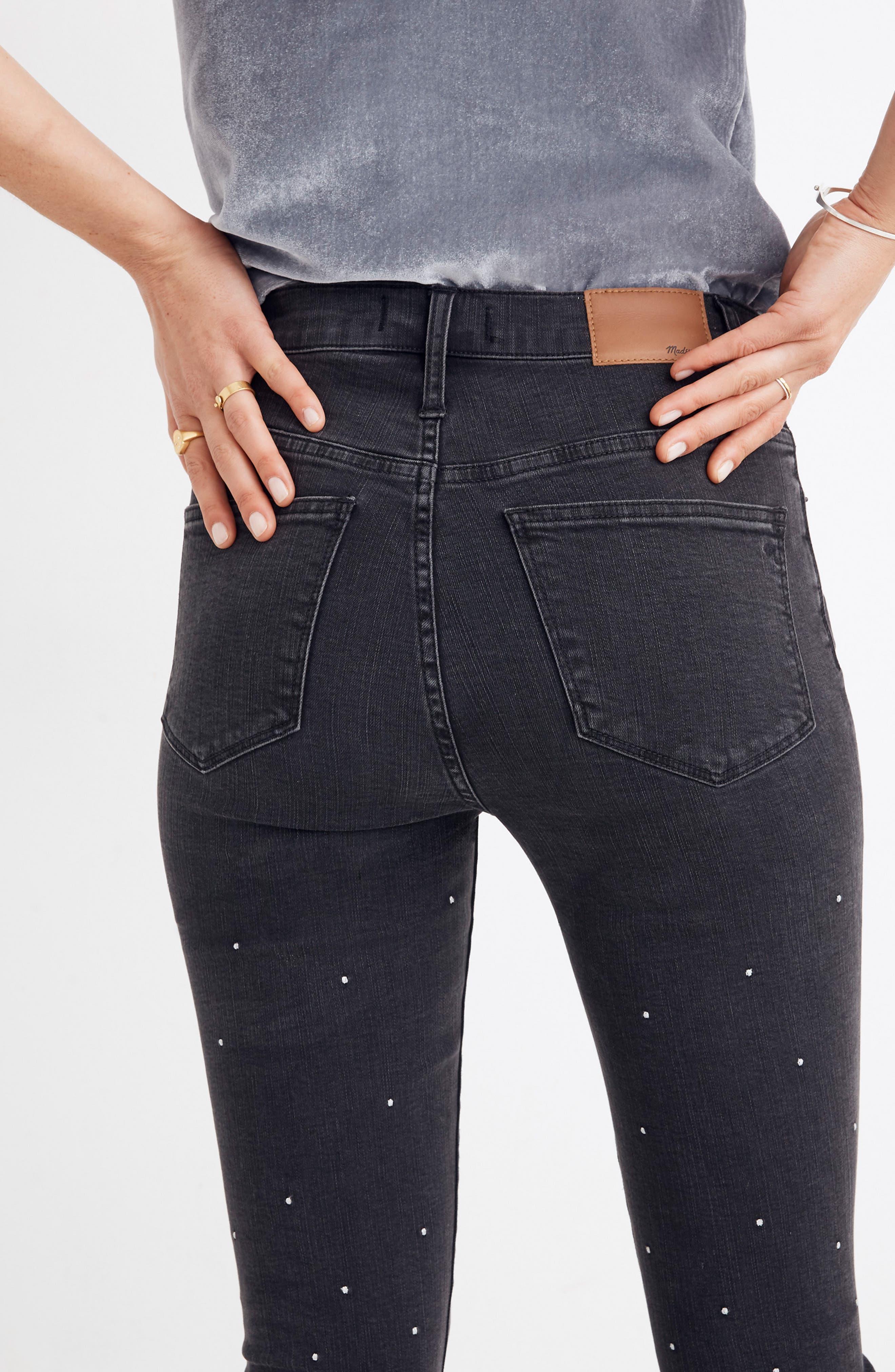 Cali Demi Boot Jeans,                             Alternate thumbnail 7, color,                             SILVER DOTS