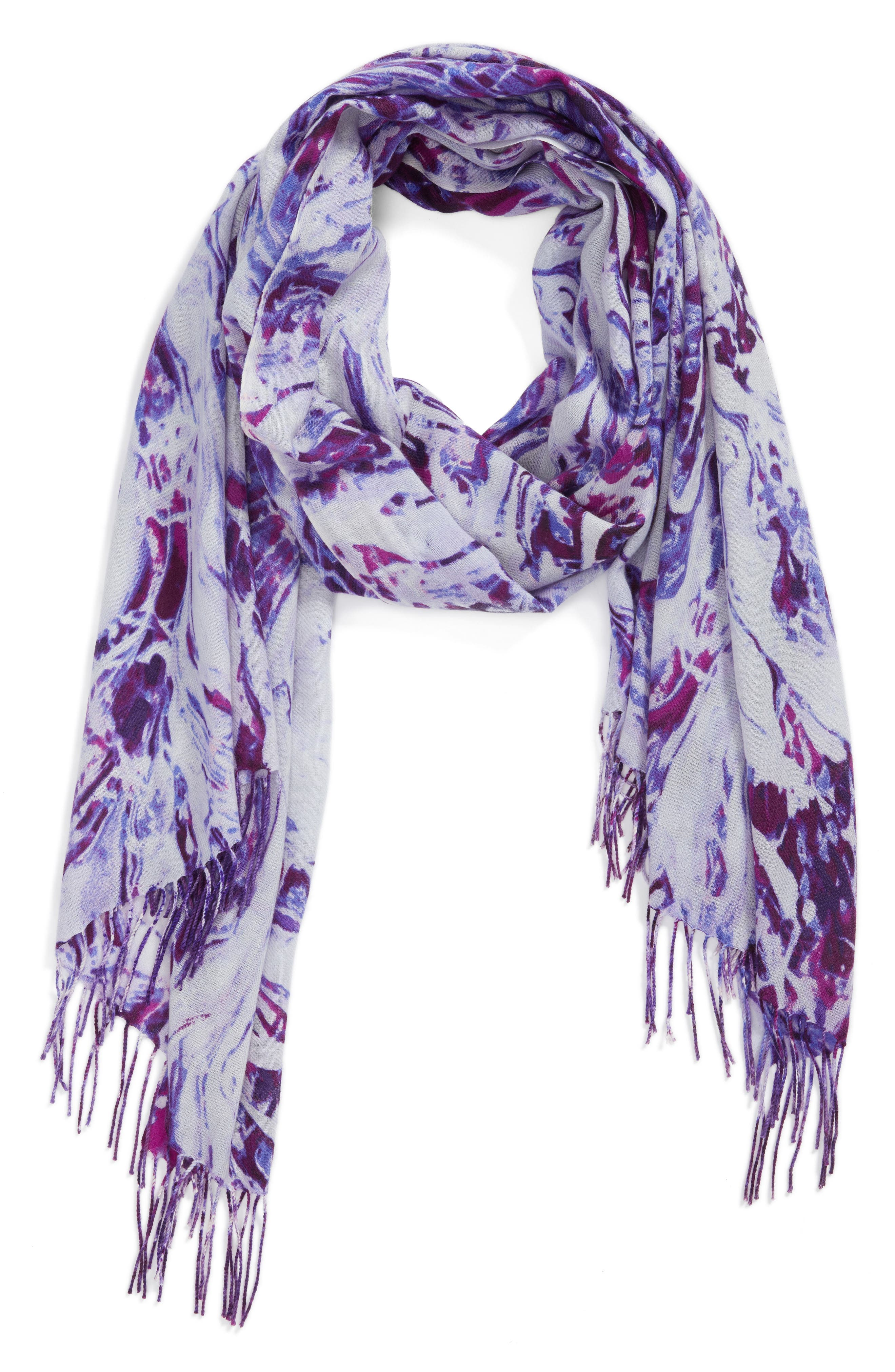 Marble Tissue Wool & Cashmere Scarf,                             Alternate thumbnail 7, color,