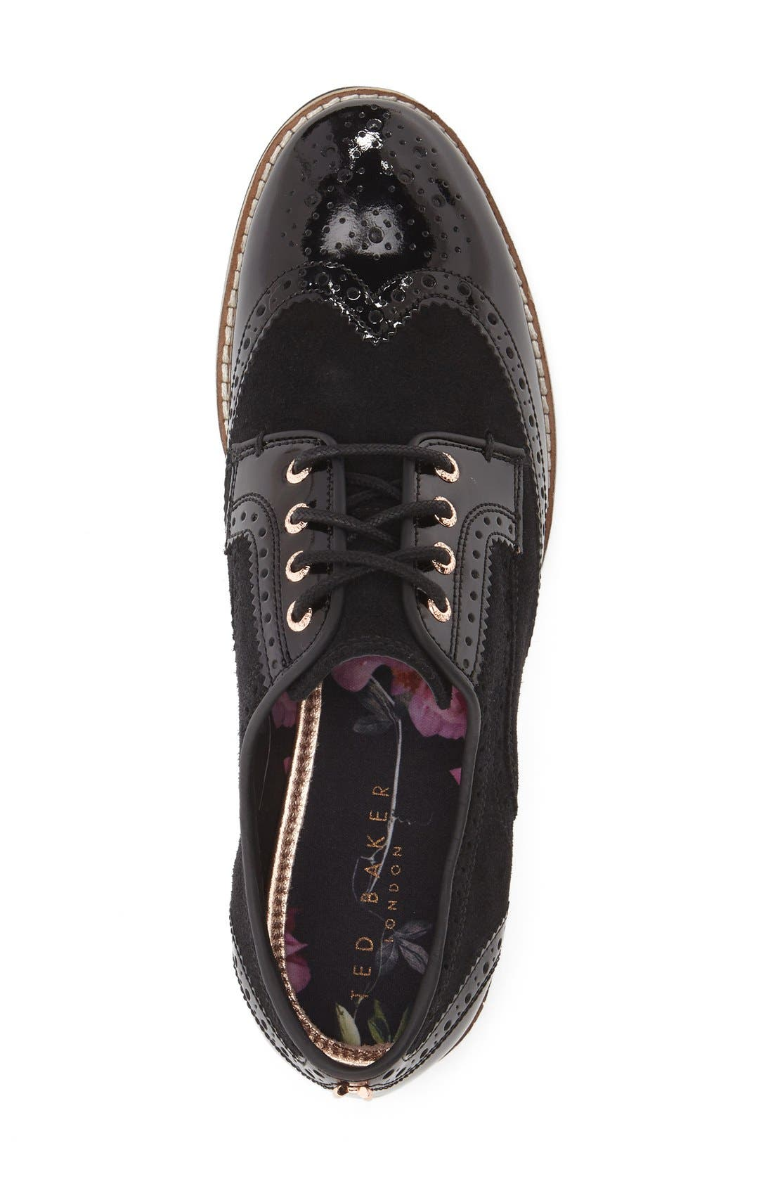 TED BAKER LONDON,                             'Anoihe' Oxford,                             Alternate thumbnail 4, color,                             015