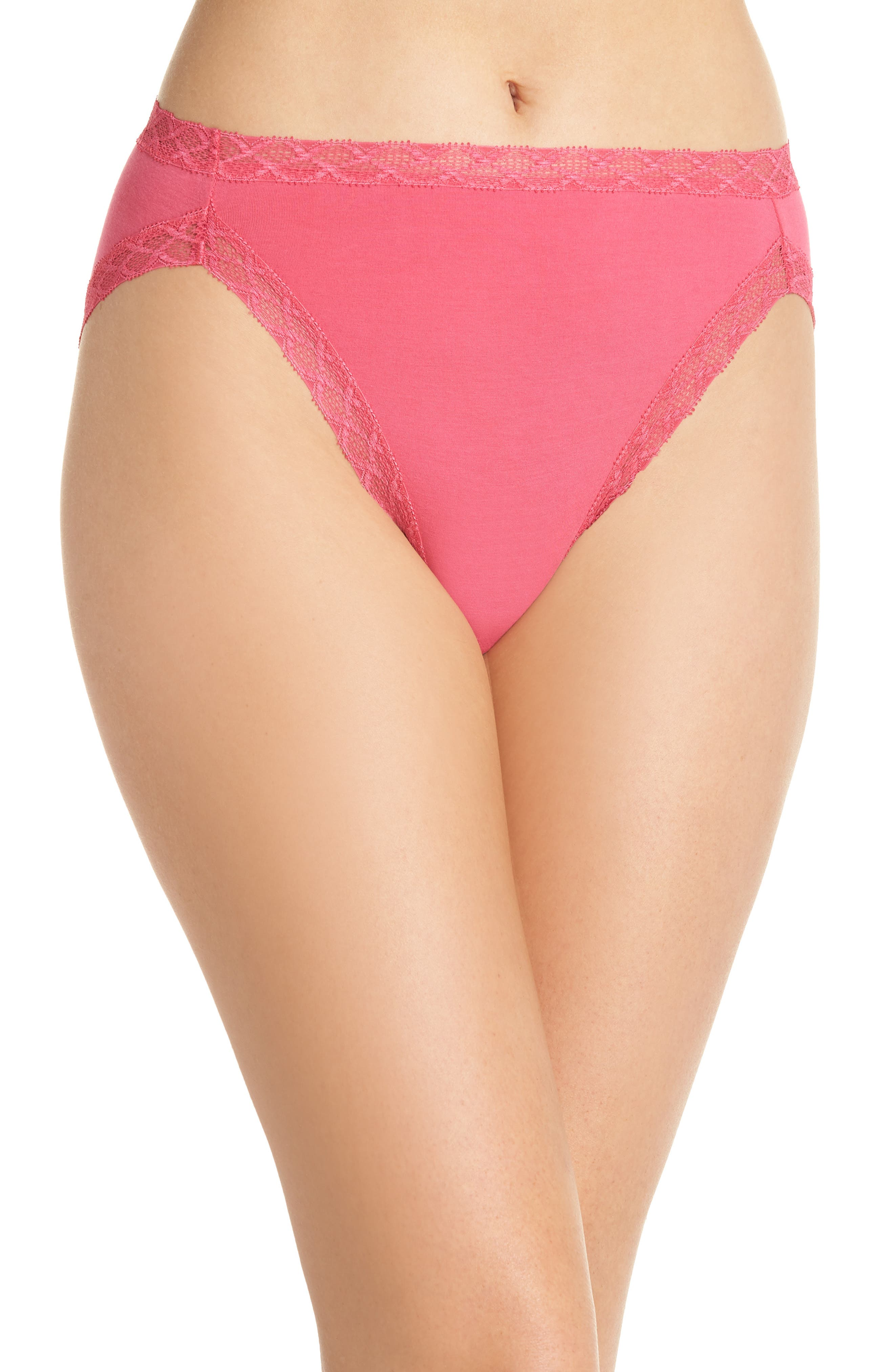 Bliss French Cut Briefs,                             Main thumbnail 1, color,                             HOT PINK