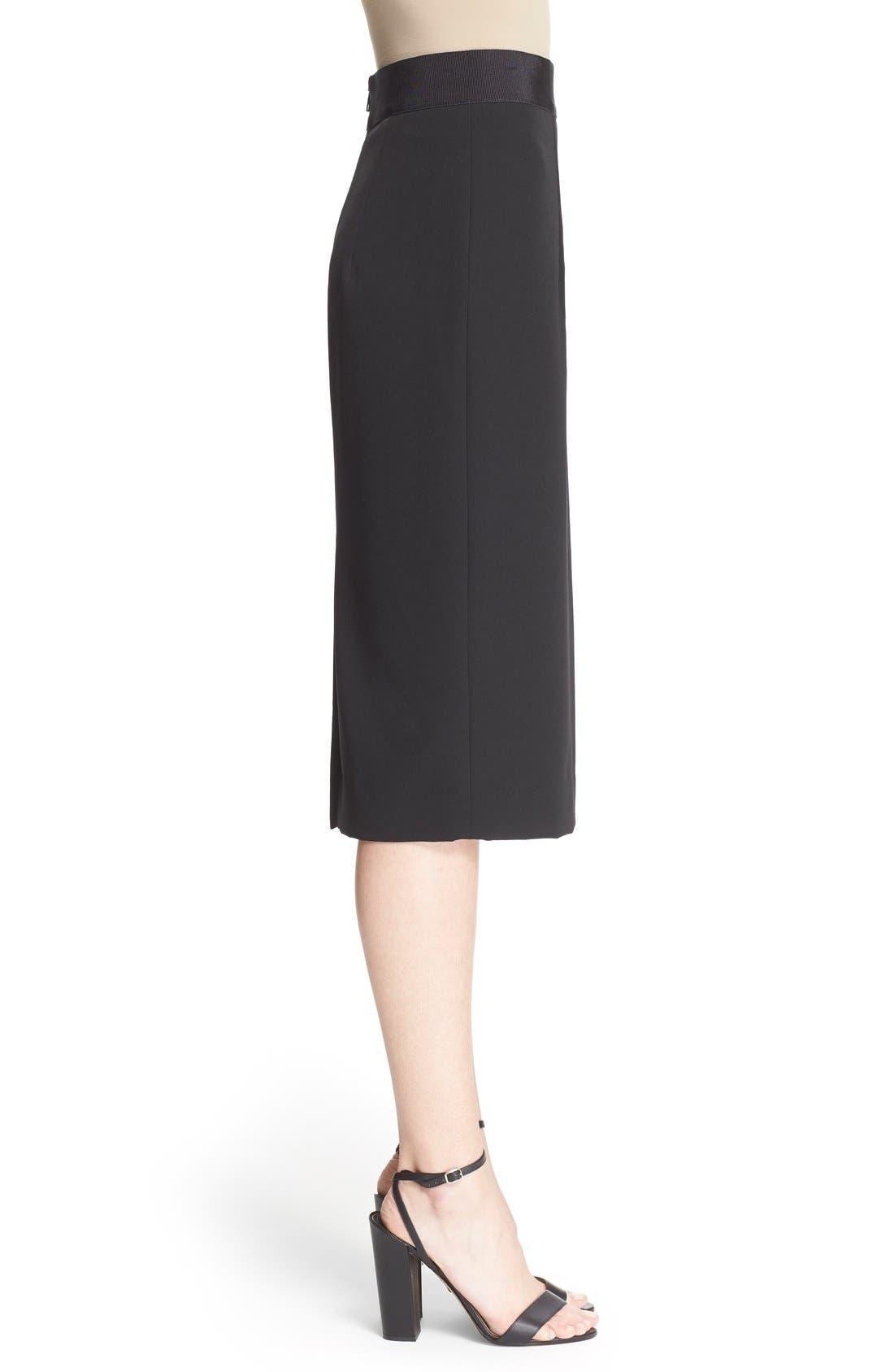 Italian Cady Pencil Skirt,                             Alternate thumbnail 2, color,                             001