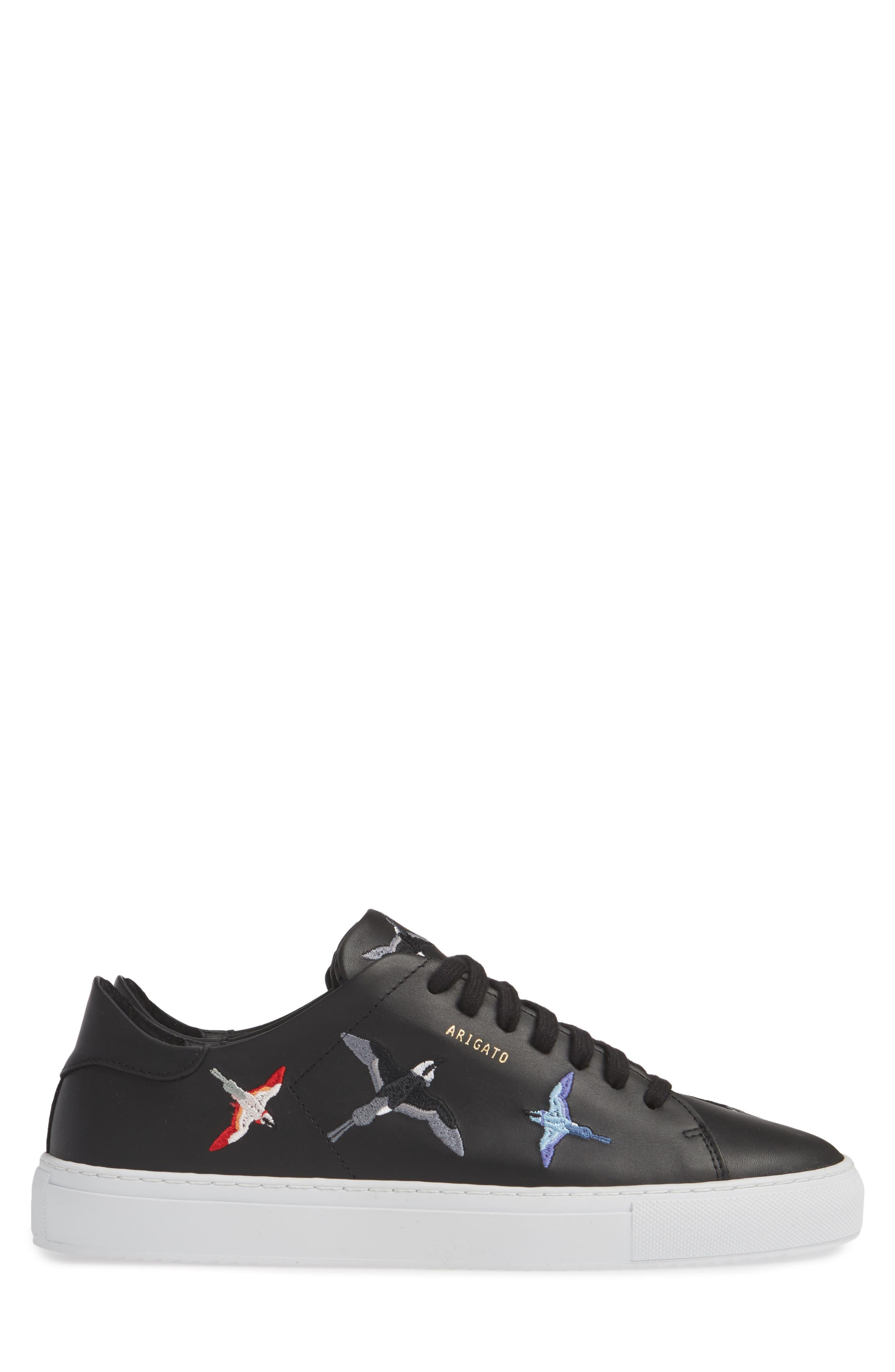 Clean 90 Sneaker,                             Alternate thumbnail 4, color,                             BLACK W/ BIRDS
