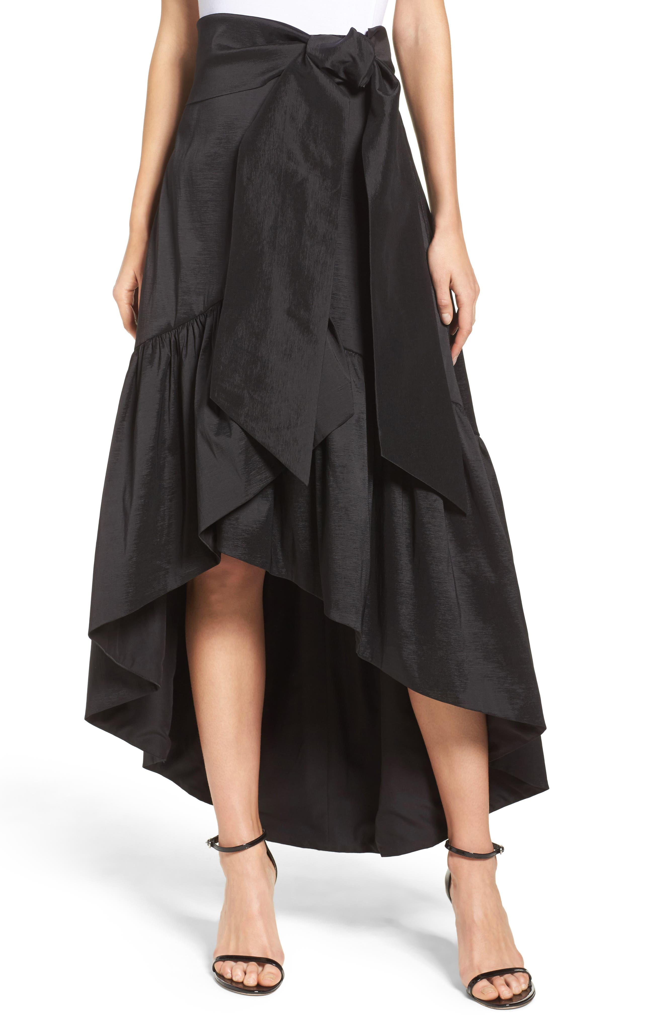 Faux Wrap Skirt,                             Main thumbnail 1, color,                             001
