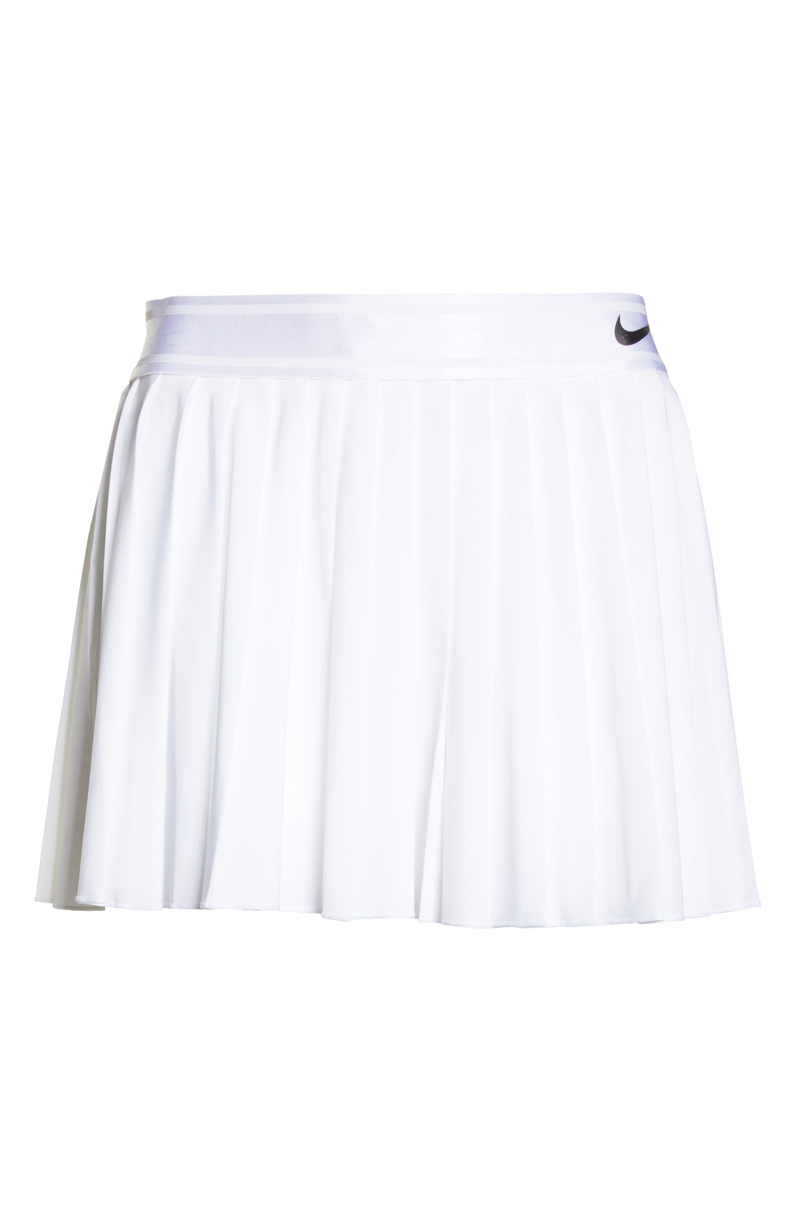Court Victory Tennis Skirt,                             Alternate thumbnail 7, color,                             WHITE/ BLACK