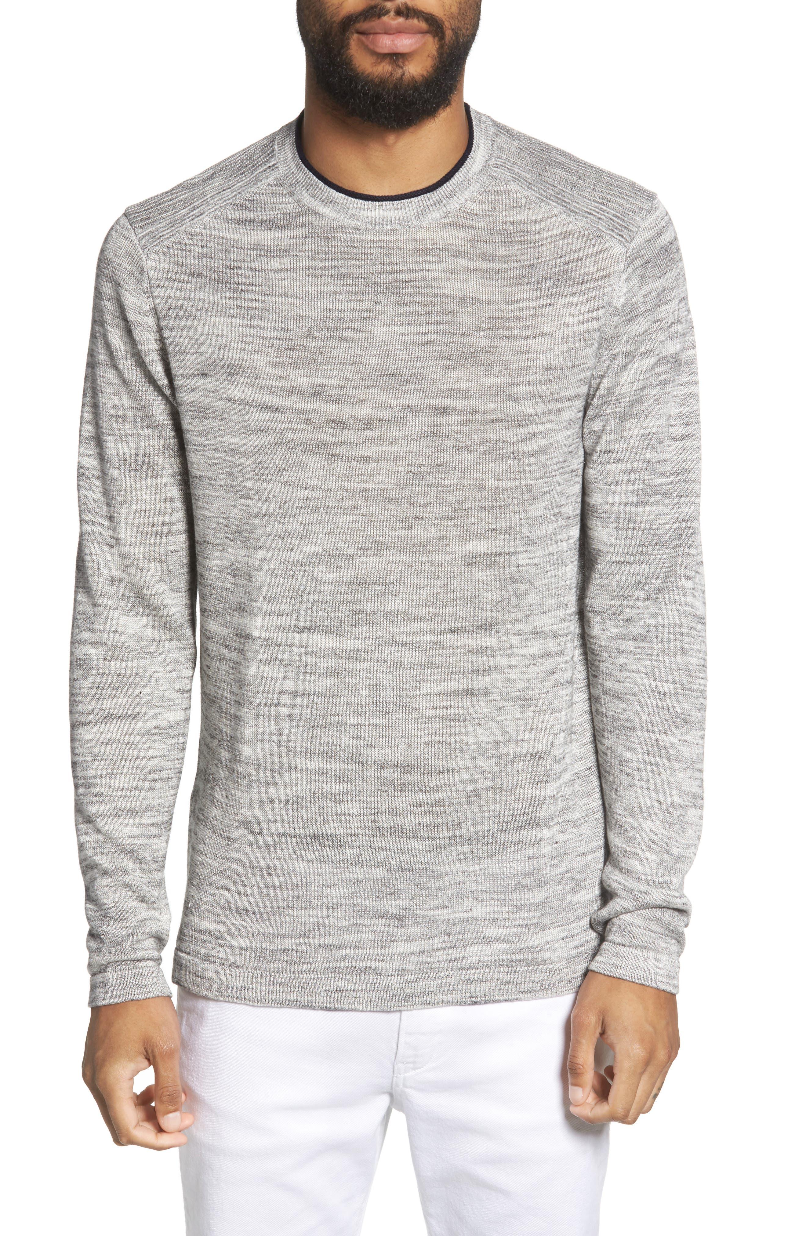 Inzone Crewneck Linen Blend Sweater,                         Main,                         color, 050