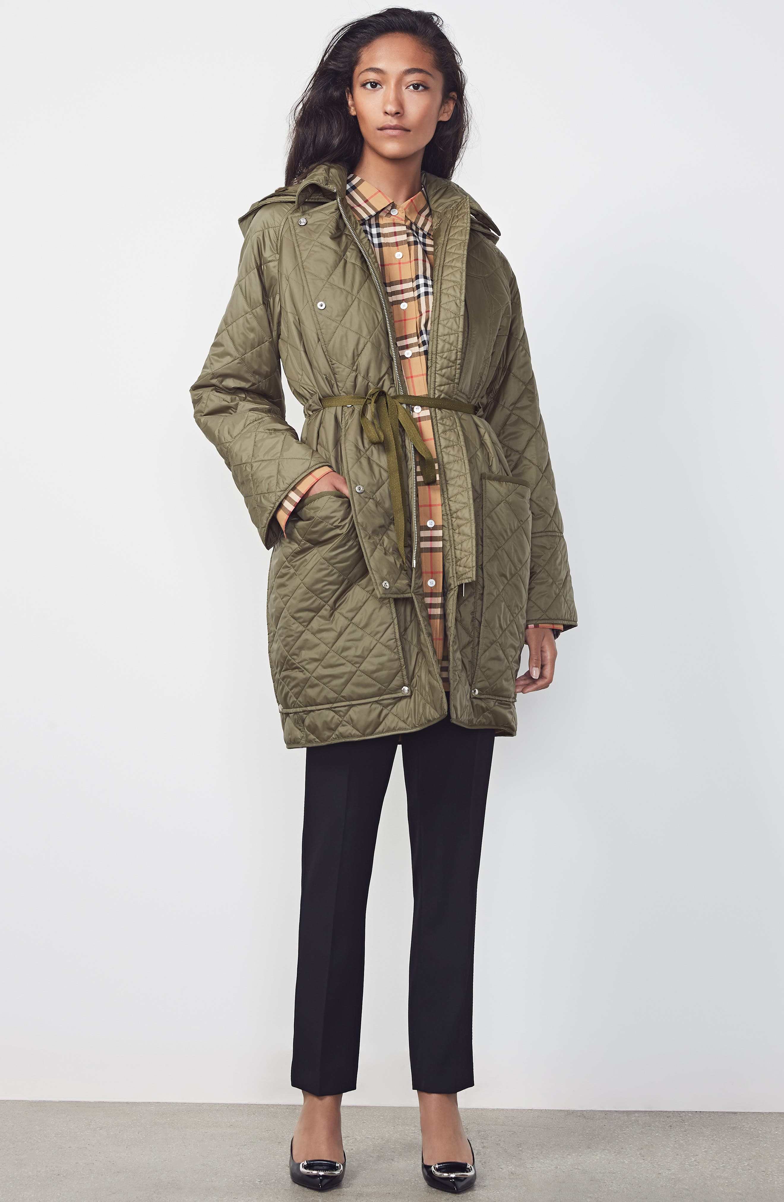 Coleraine Quilted Drawstring Jacket,                             Alternate thumbnail 10, color,                             CADET GREEN
