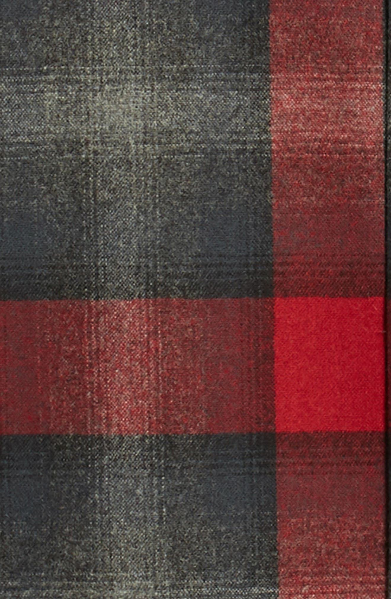 Board Wool Flannel Shirt,                             Alternate thumbnail 6, color,                             BLACK/ GREY MIX/ RED OMBRE