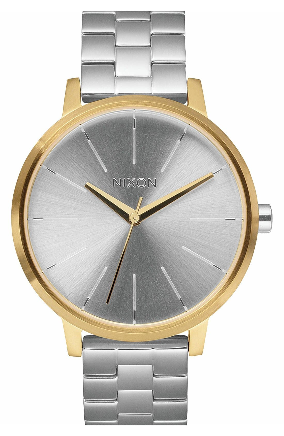 'The Kensington' Leather Strap Watch, 37mm,                             Main thumbnail 12, color,