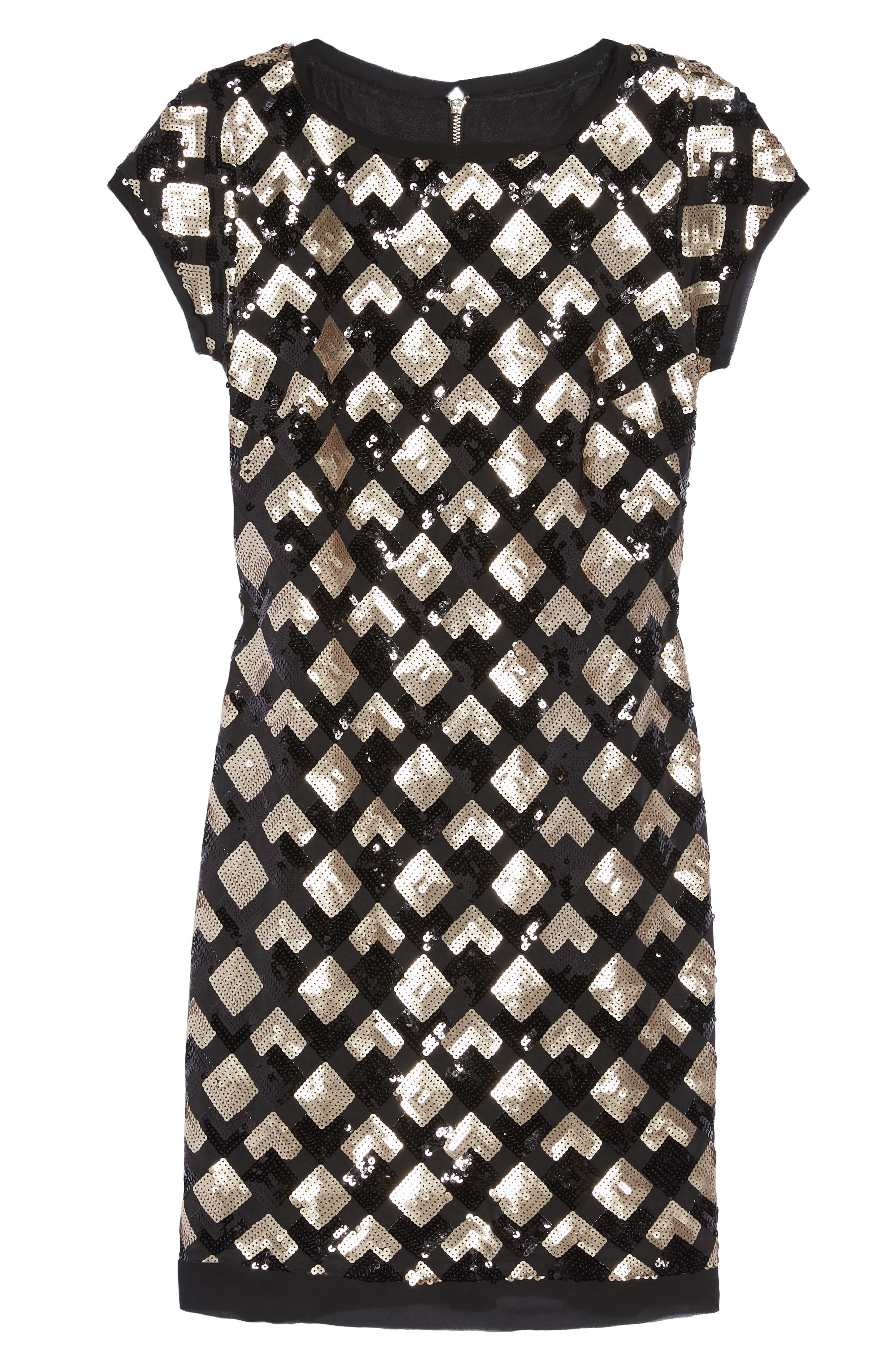 Sequin Sheath Dress,                             Alternate thumbnail 6, color,