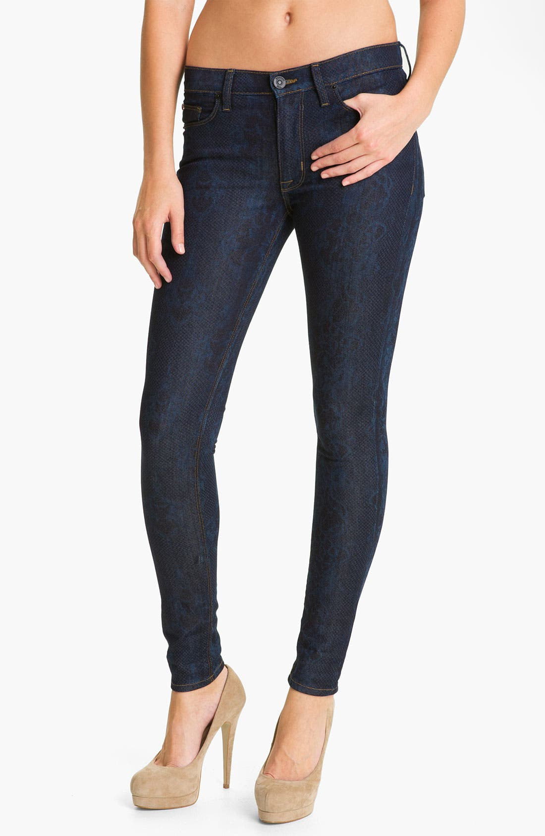 'Nico' Mid Rise Super Skinny Jeans,                             Main thumbnail 1, color,