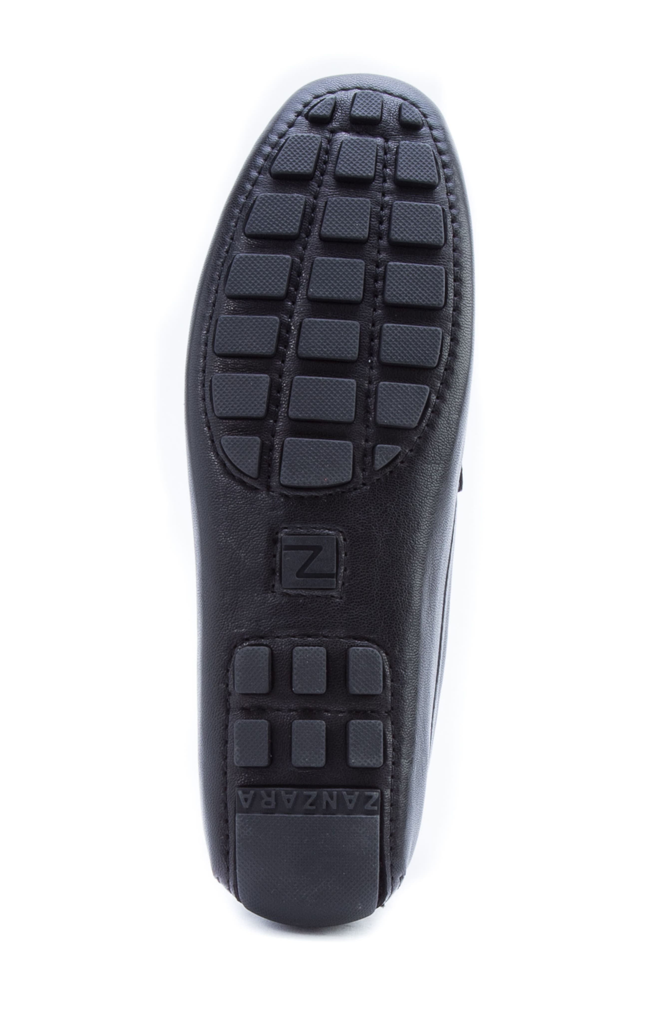 ZANZARA,                             Picasso 3 Moc Toe Driving Loafer,                             Alternate thumbnail 6, color,                             BLACK LEATHER