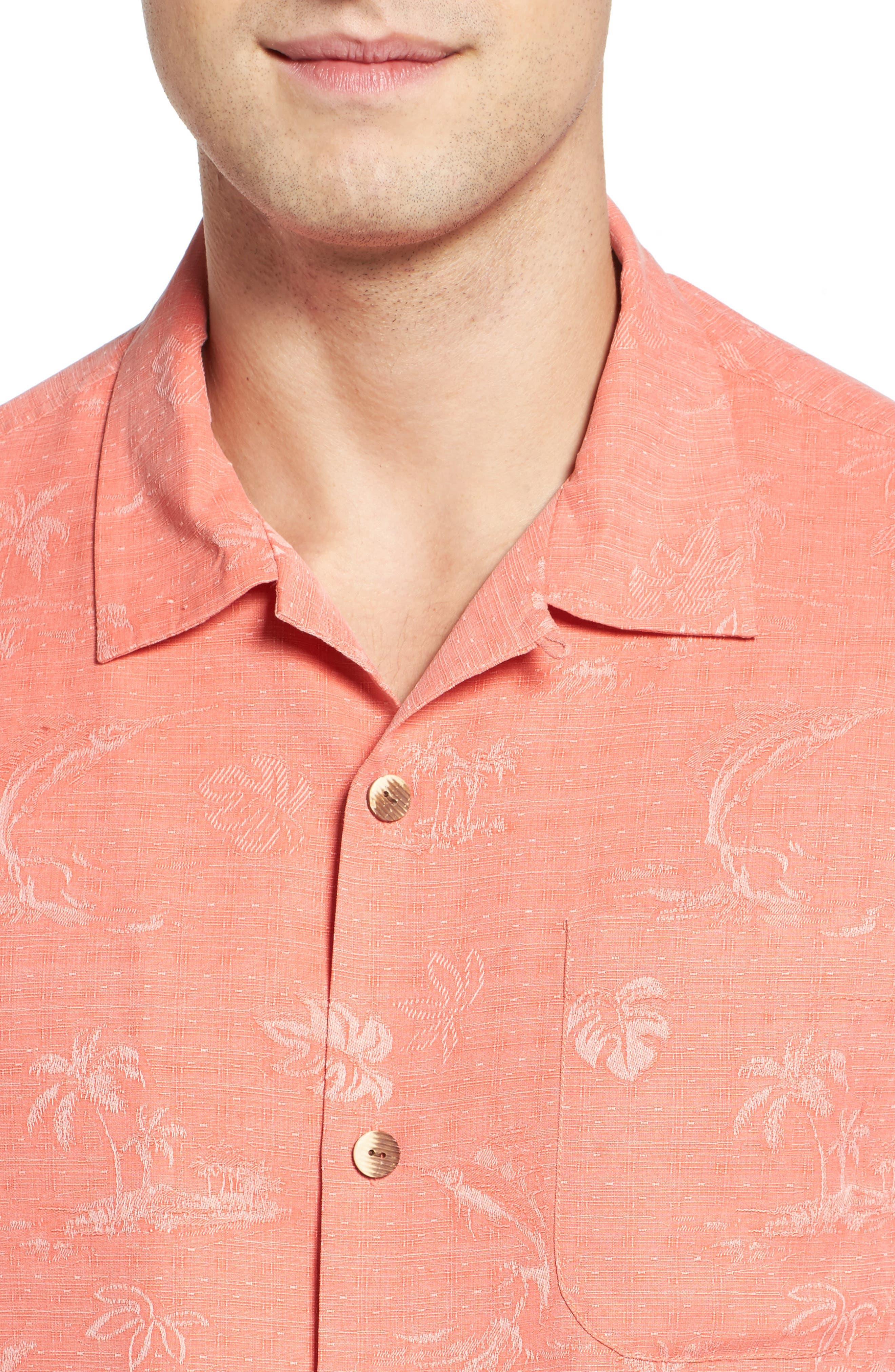 Gulf Shore Marlin Silk Camp Shirt,                             Alternate thumbnail 20, color,