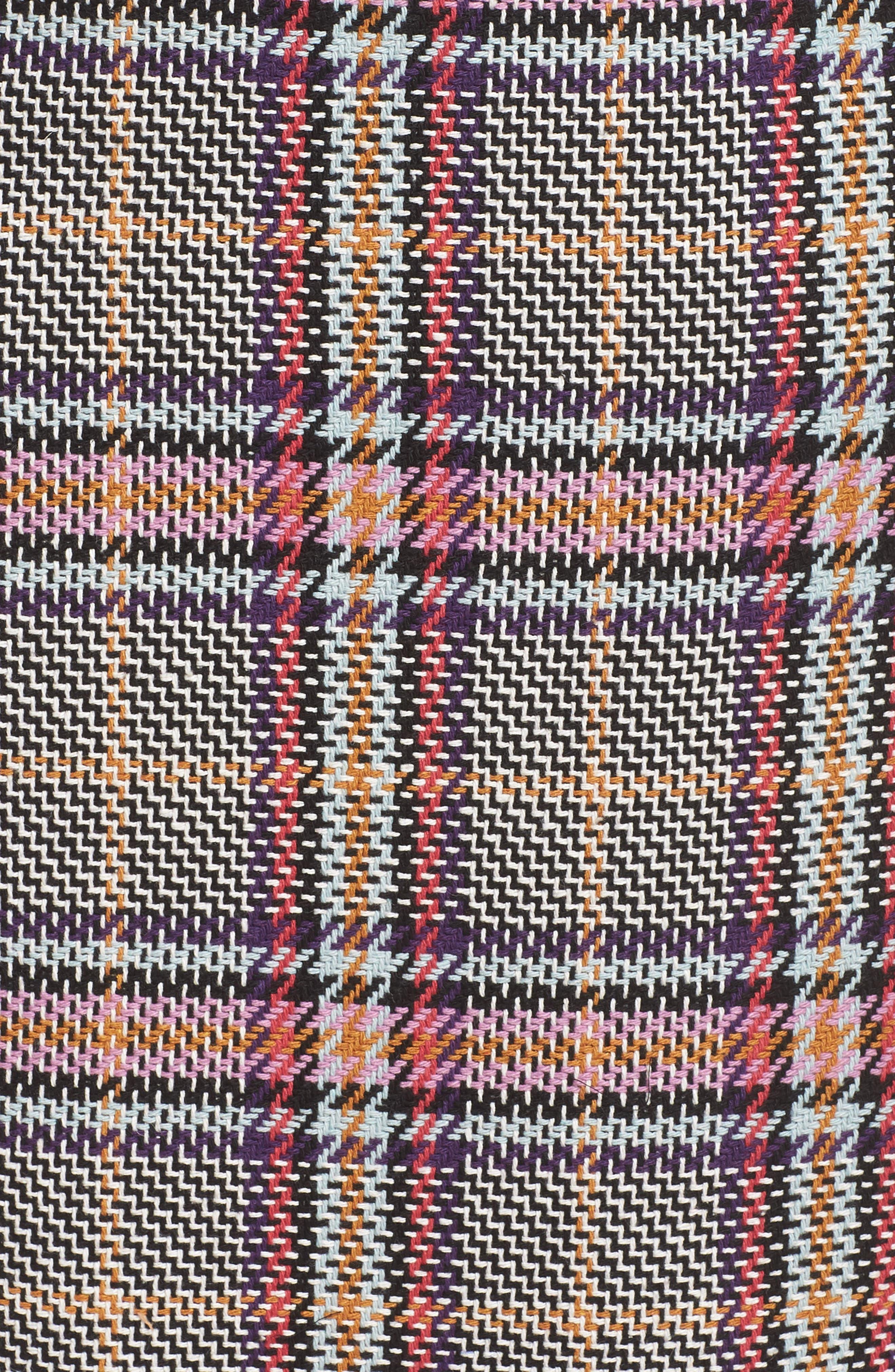 Plaid Pencil Skirt,                             Alternate thumbnail 5, color,                             530