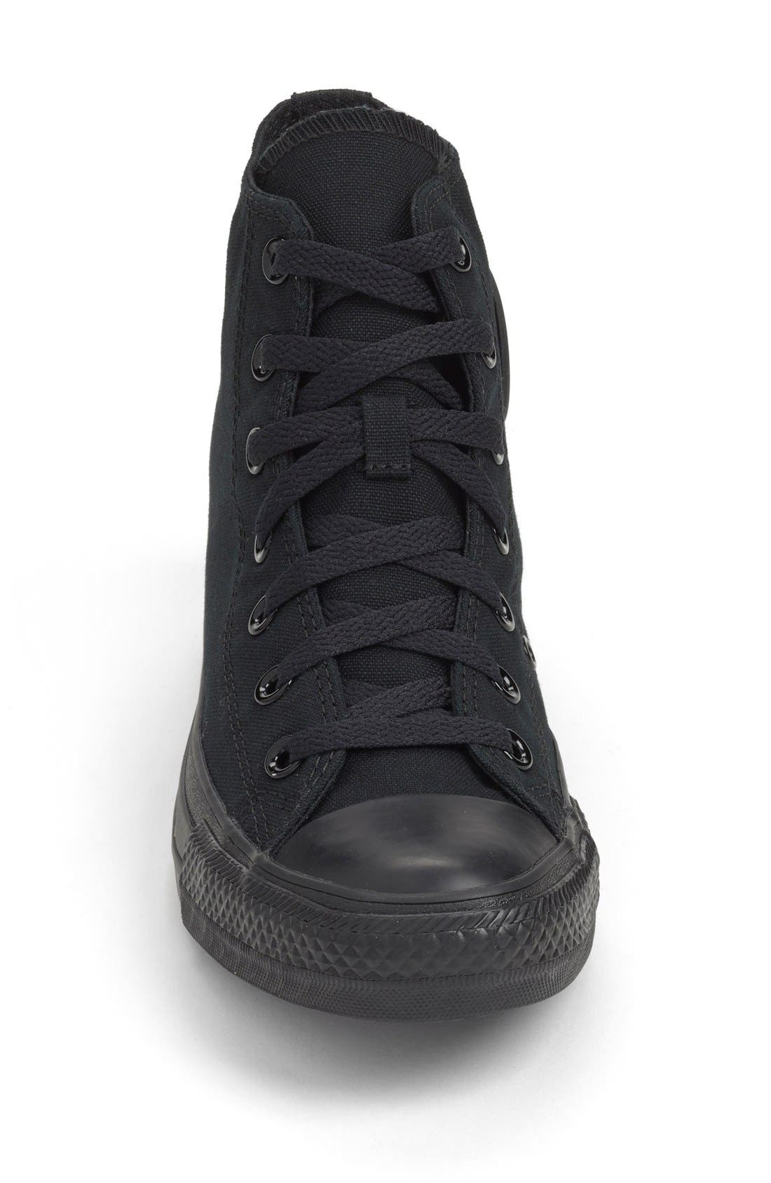 Chuck Taylor<sup>®</sup> All Star<sup>®</sup> Monochrome High Top Sneaker,                             Alternate thumbnail 5, color,                             001