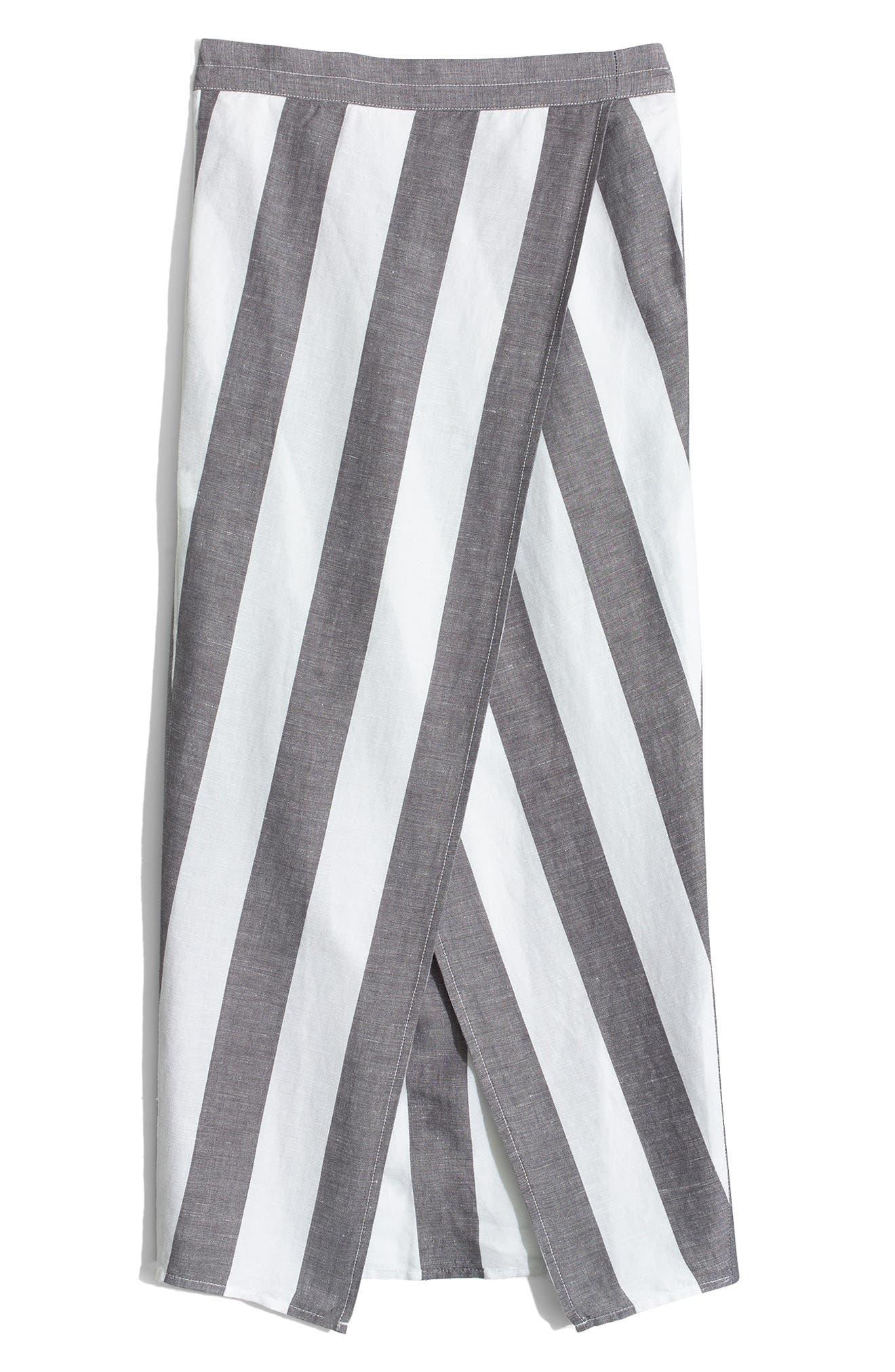 Stripe Overlay Skirt,                             Alternate thumbnail 4, color,                             020