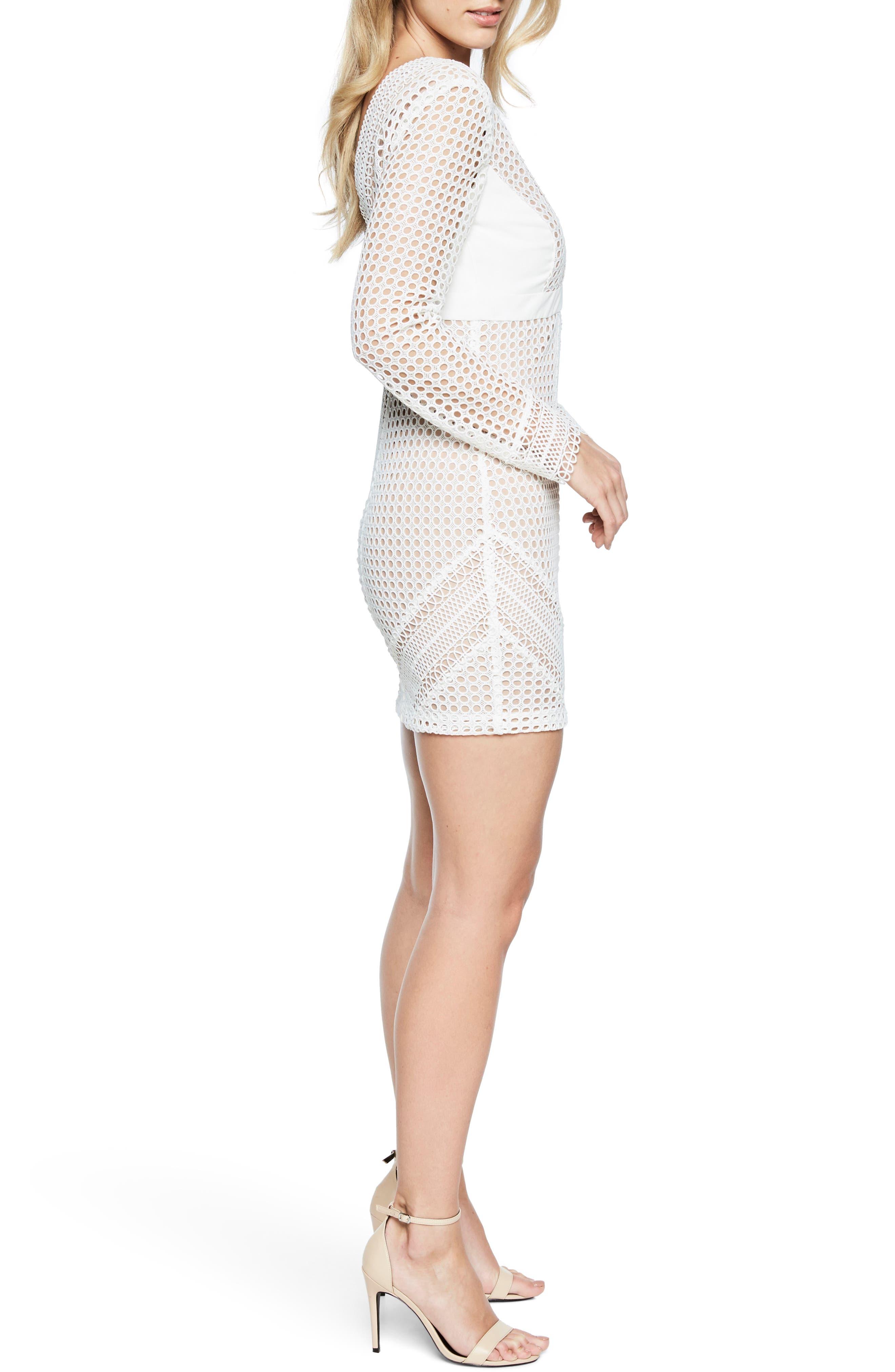 Clio Crochet Body-Con Dress,                             Alternate thumbnail 2, color,